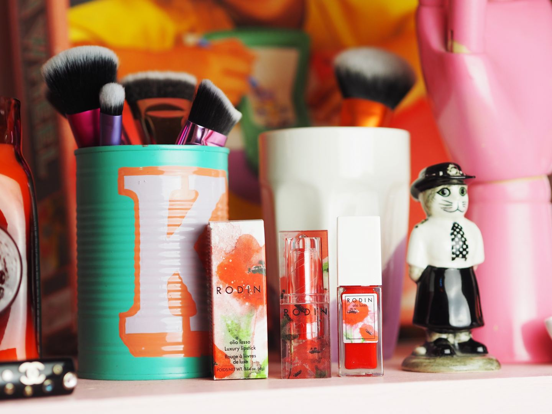 Rodin Poppy Lipstick and Lip & Cheek Oil