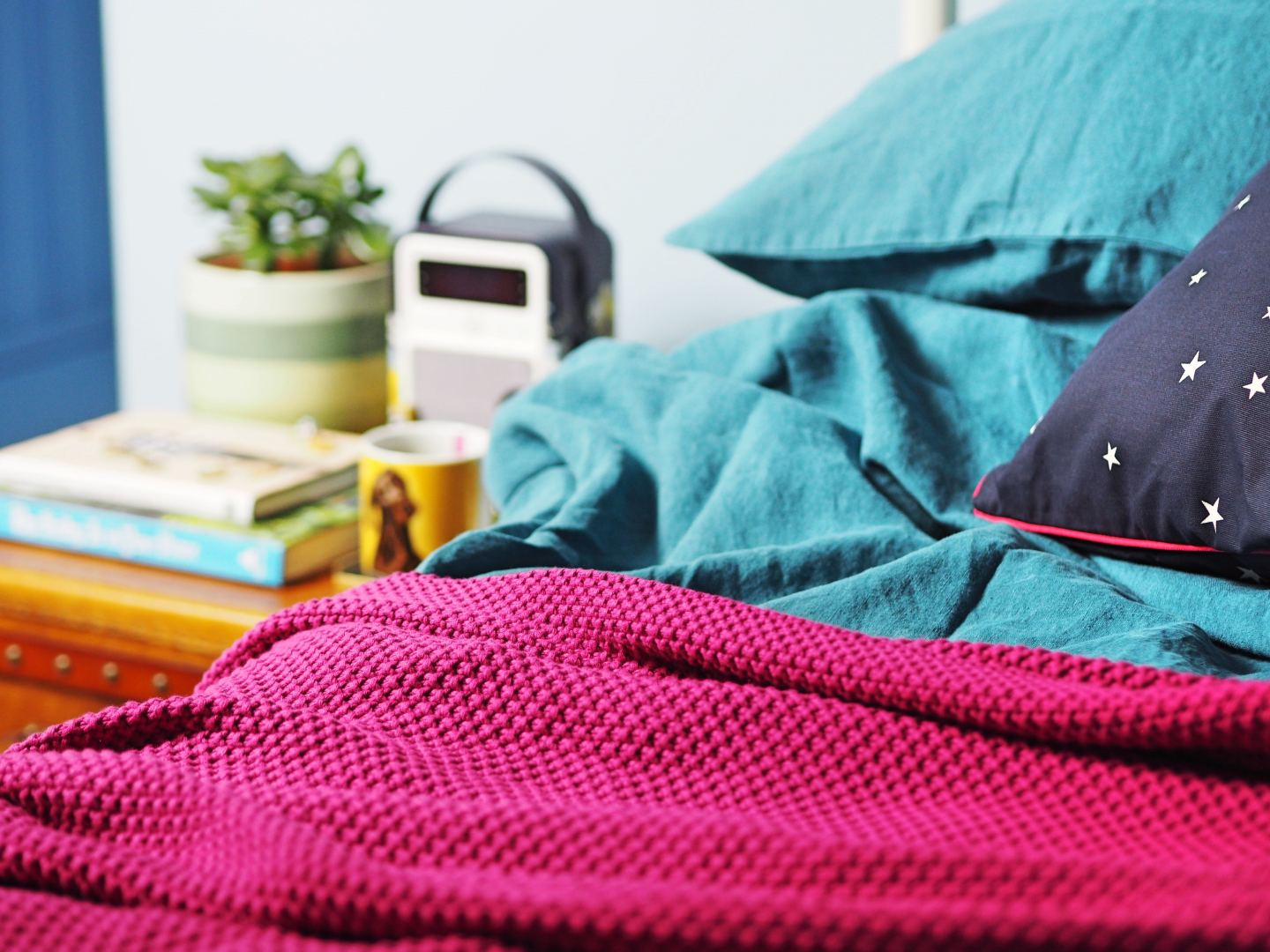 VQ X Joules radio and loaf linen bedding