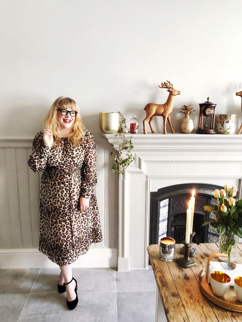boden dress leopard print