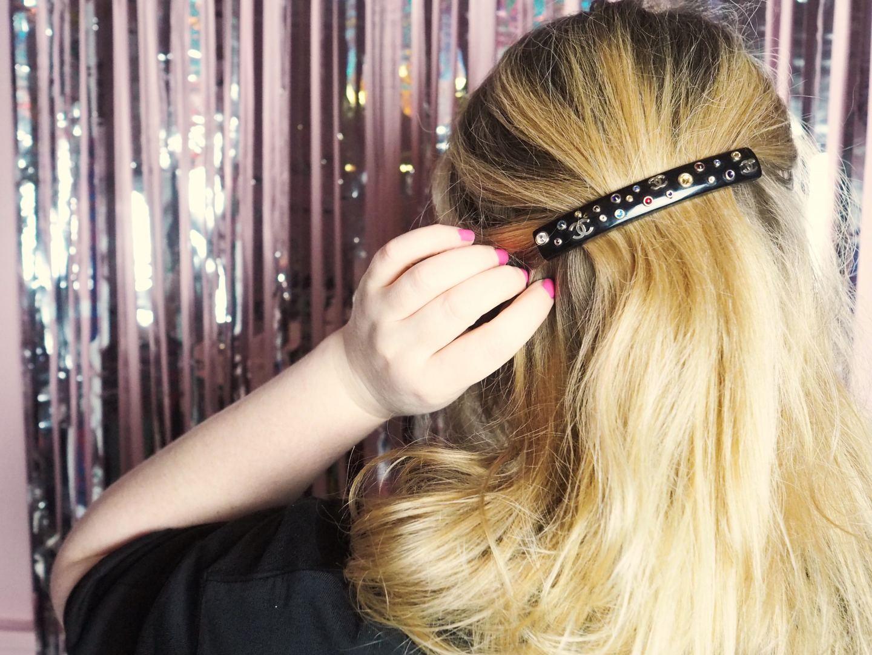chanel hair clip barette