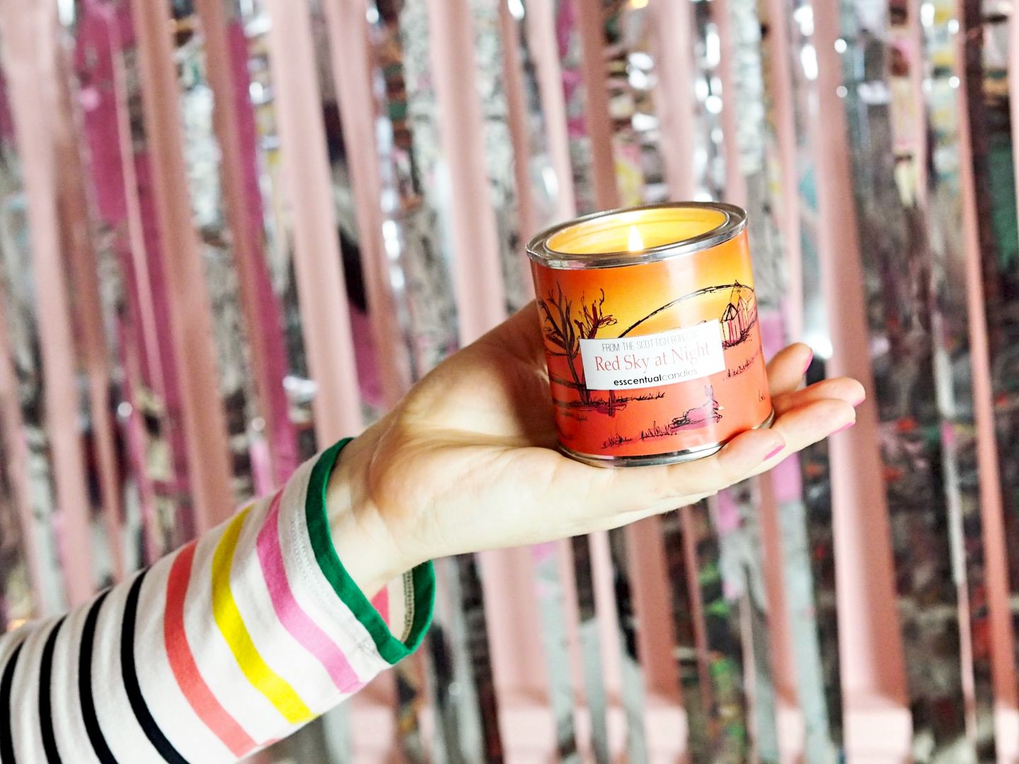 esscentual candles red sky at night candle