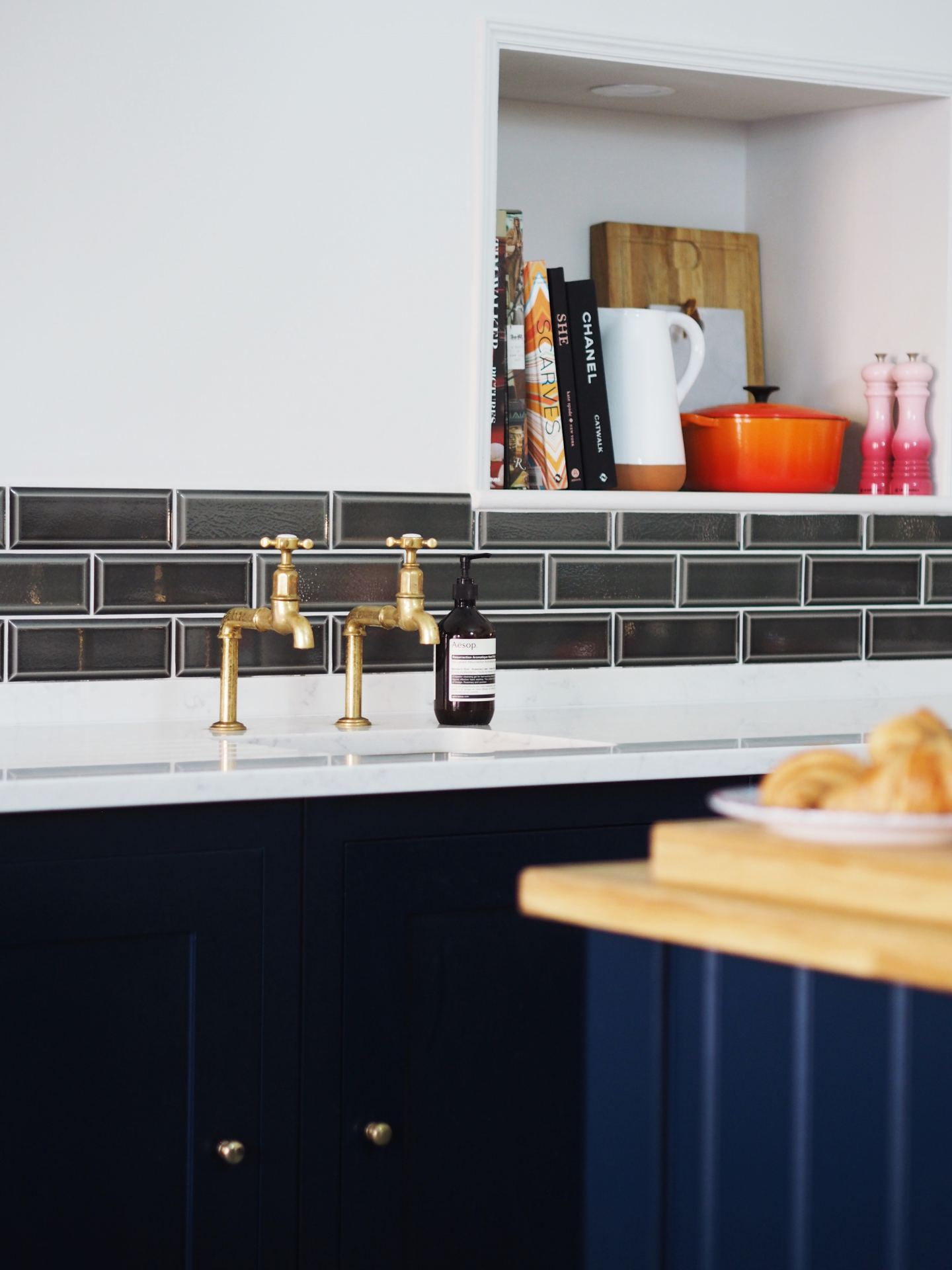 harvey jones kitchen navy blue fashion for lunch blog kitchen copper taps