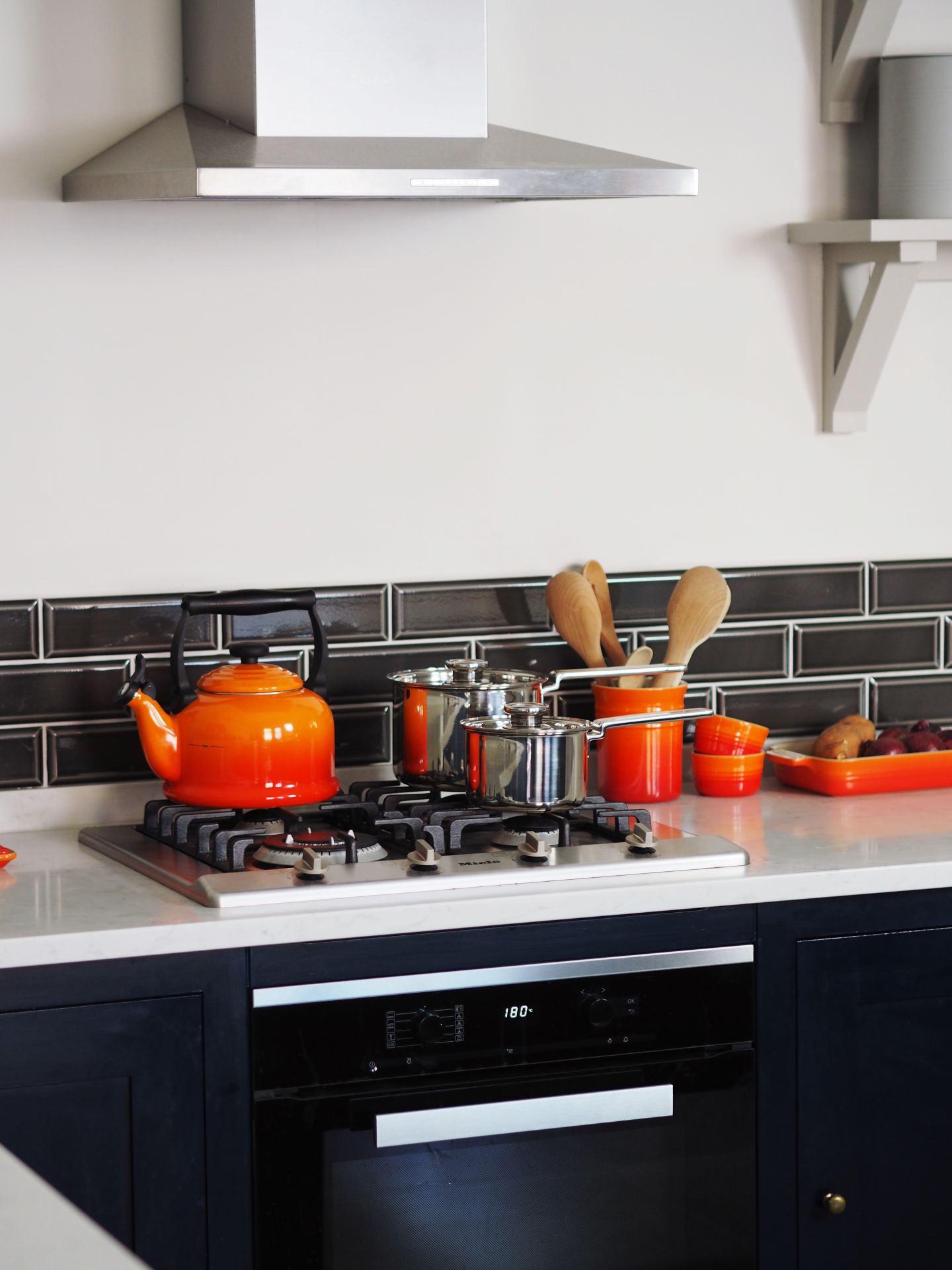 harvey jones kitchen navy blue miele oven