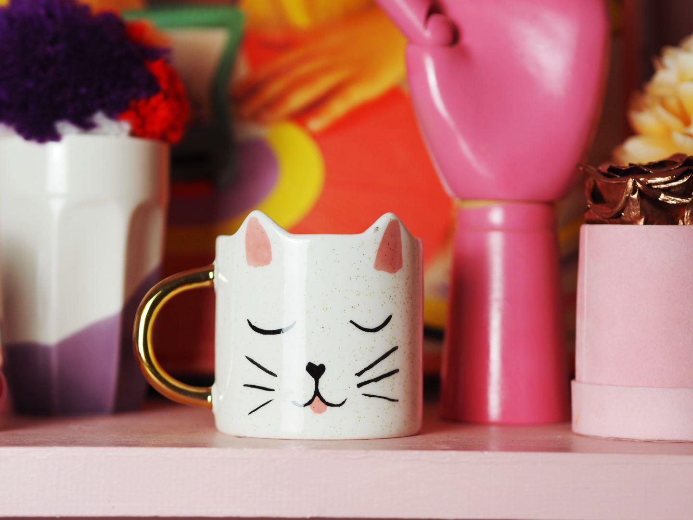 oliver bonas cat mug