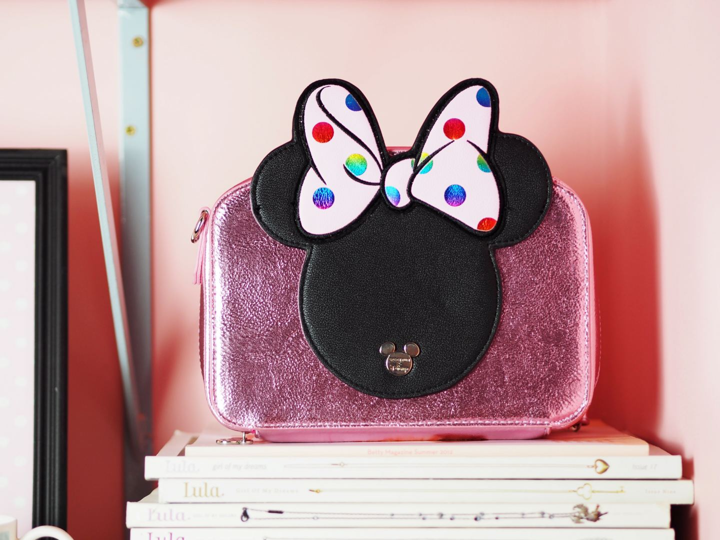 spectrum collections minnie mouse camera bag and brushes set