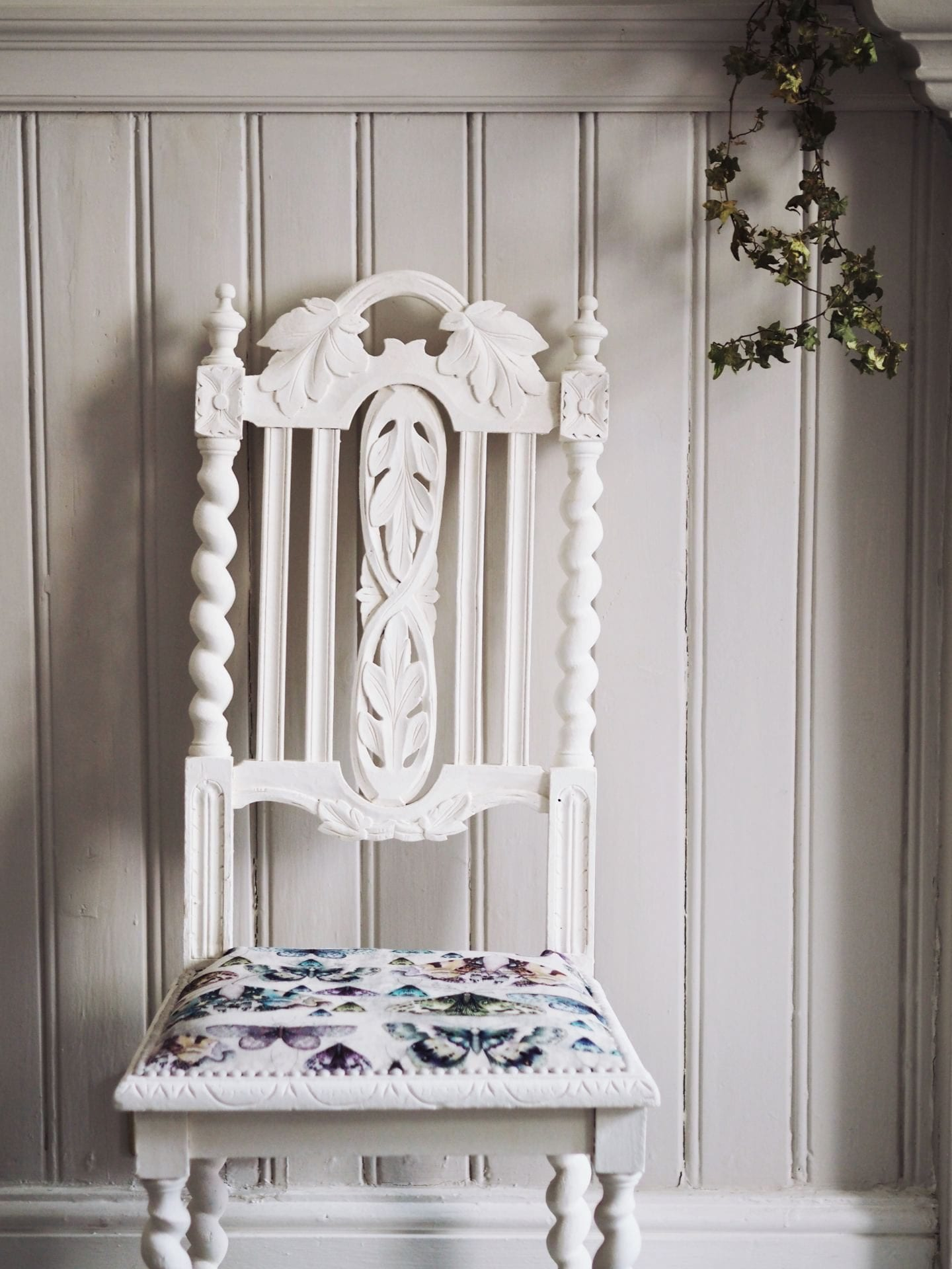 how to Painting, Upcycling & Reupholstering A Chair upcycling project fashionforlunch johnstones paint