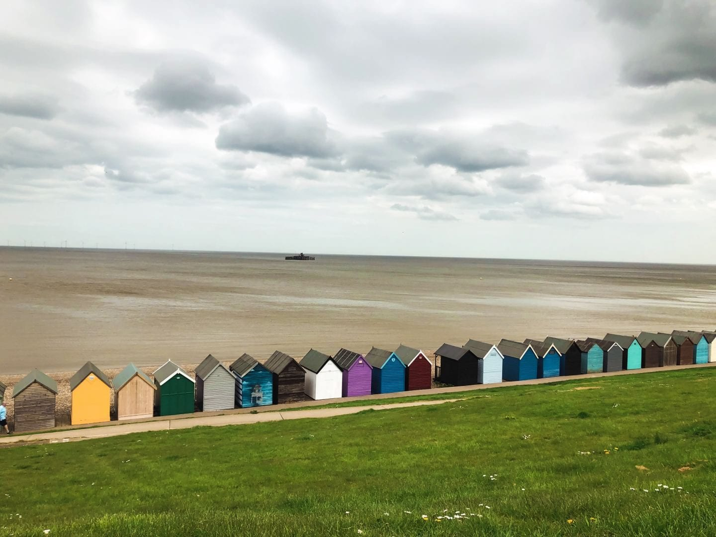 Colourful Beach Huts In Herne Bay