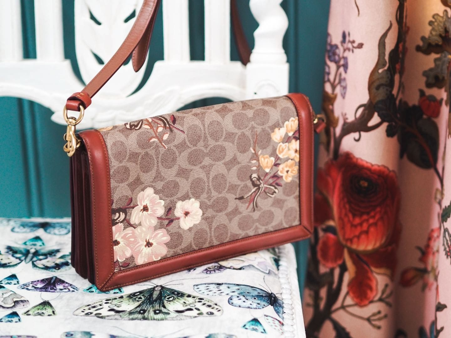 Coach Riley Handbag Riley In Signature Canvas With Prairie Floral Print bag review back of handbag