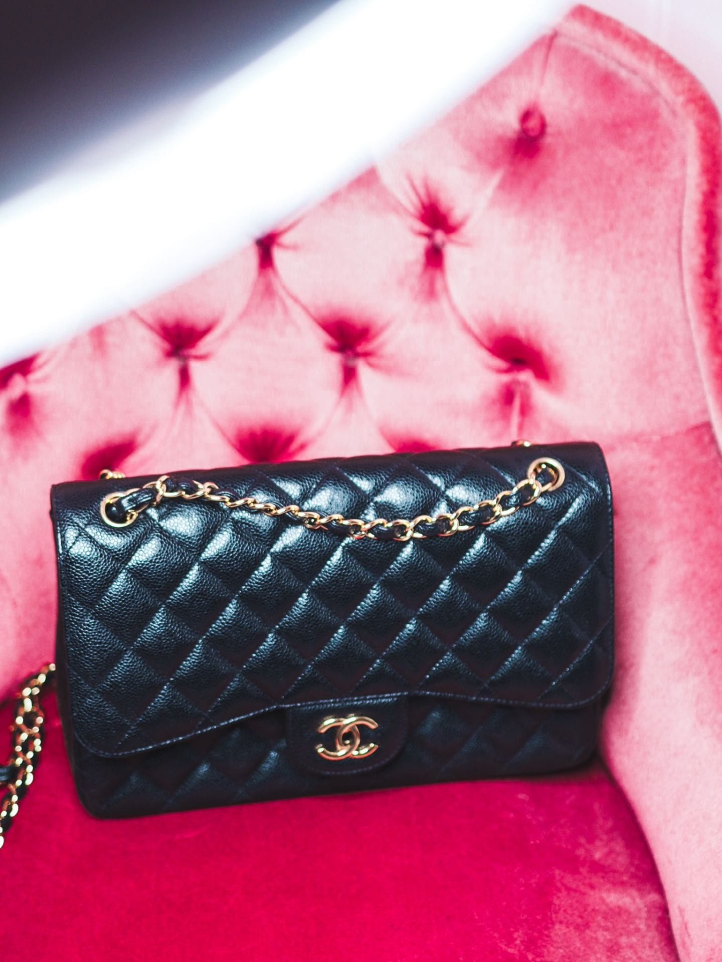 chanel jumbo handbag black caviar leather review