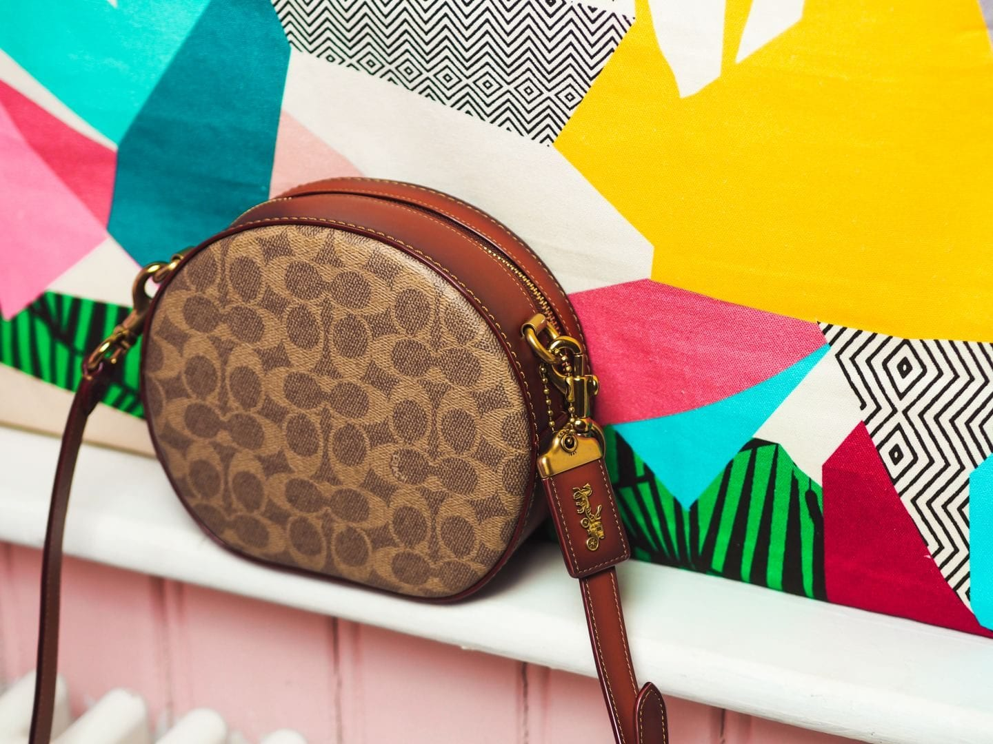 coach canteen crossbody round handbag in signature canvas bag bag review monogram coated canvas worth the price?