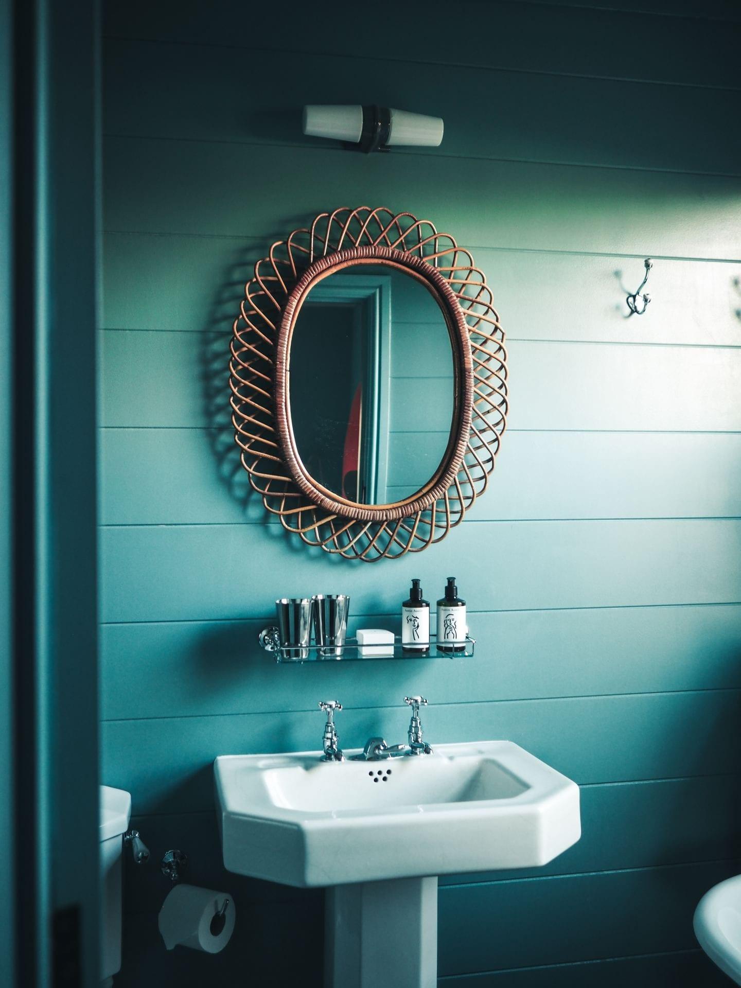 the rose deal kent decor interior design bamboo bathroom mirror green bathroom vintage