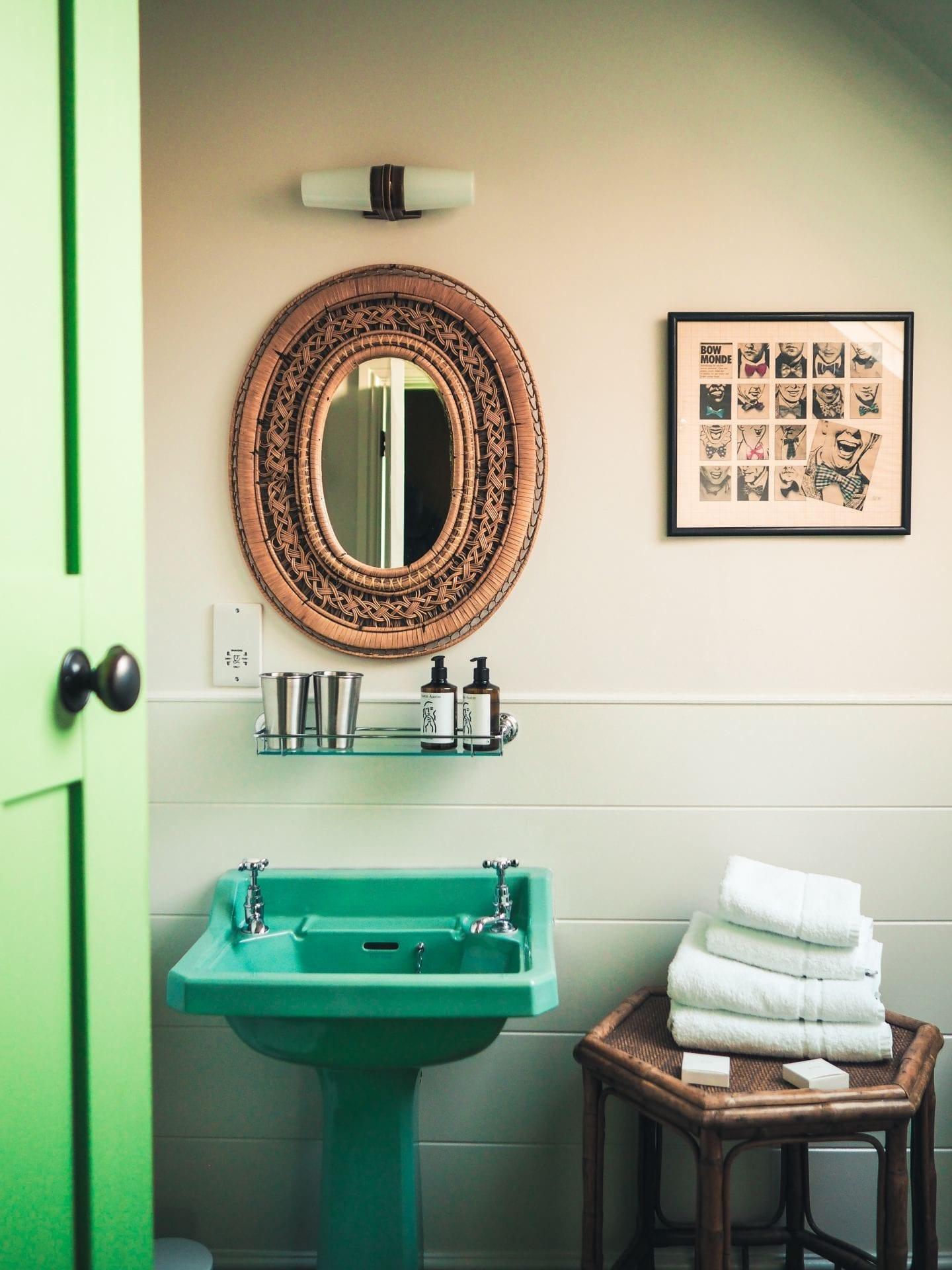 the rose deal kent decor interior design green bathroom bamboo detailing details