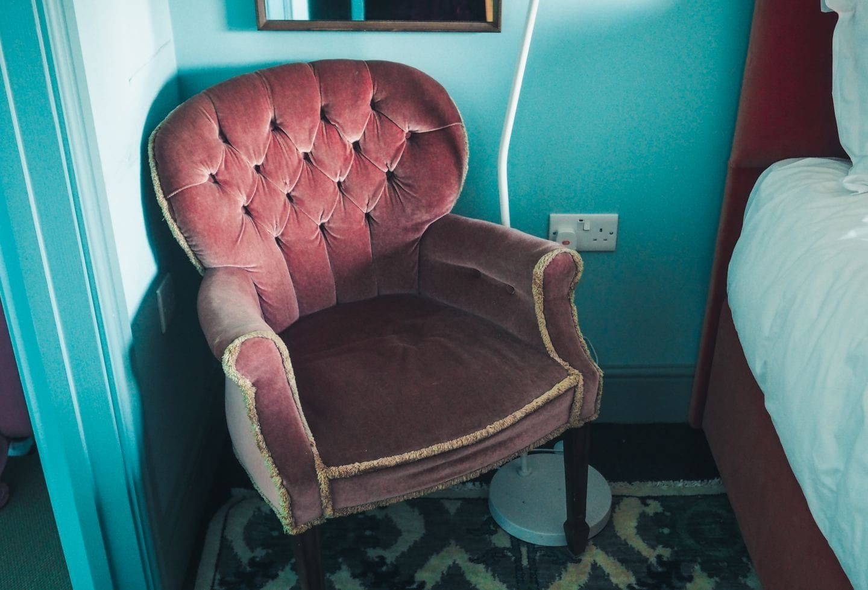 the rose deal kent decor interior design pink vintage chair