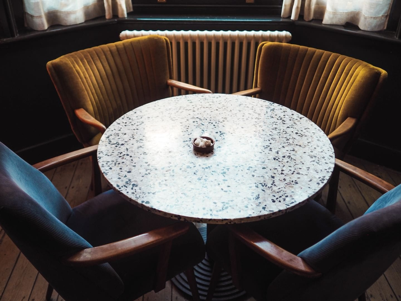 the rose deal kent decor interior design velvet and terrazo