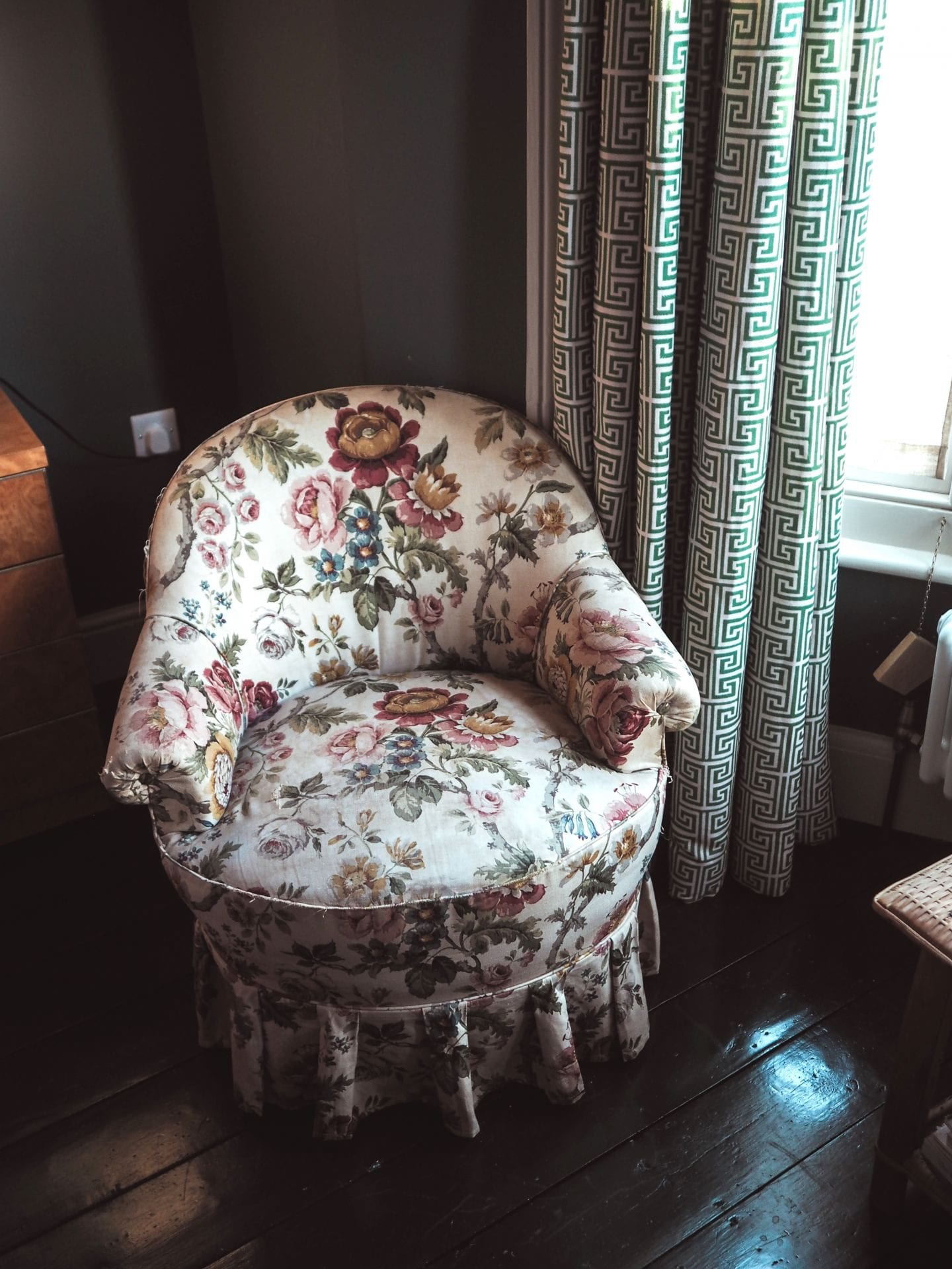 the rose deal kent decor interior design vintage floral chair