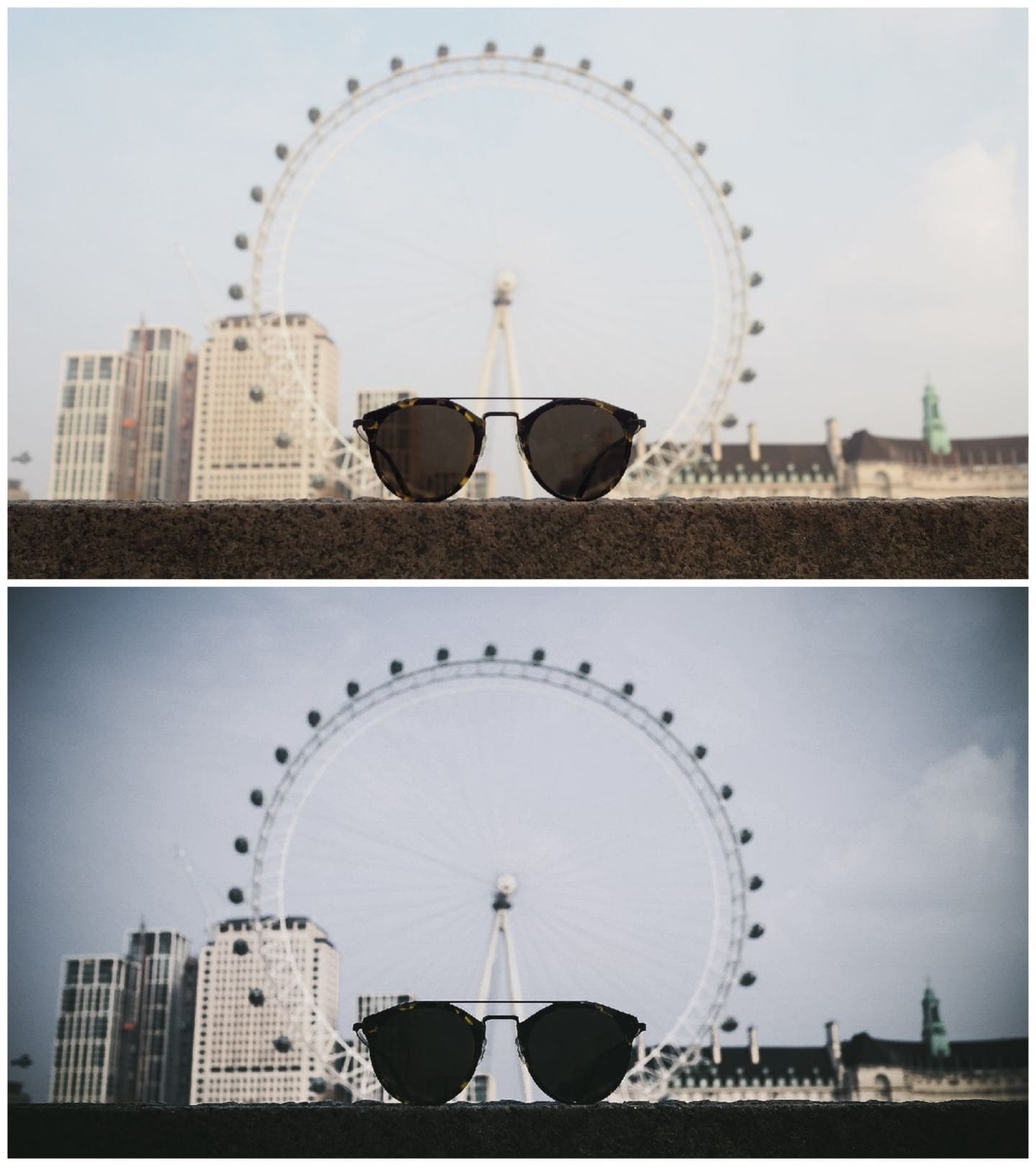 local milk free preset review sunglasses and the London eye view