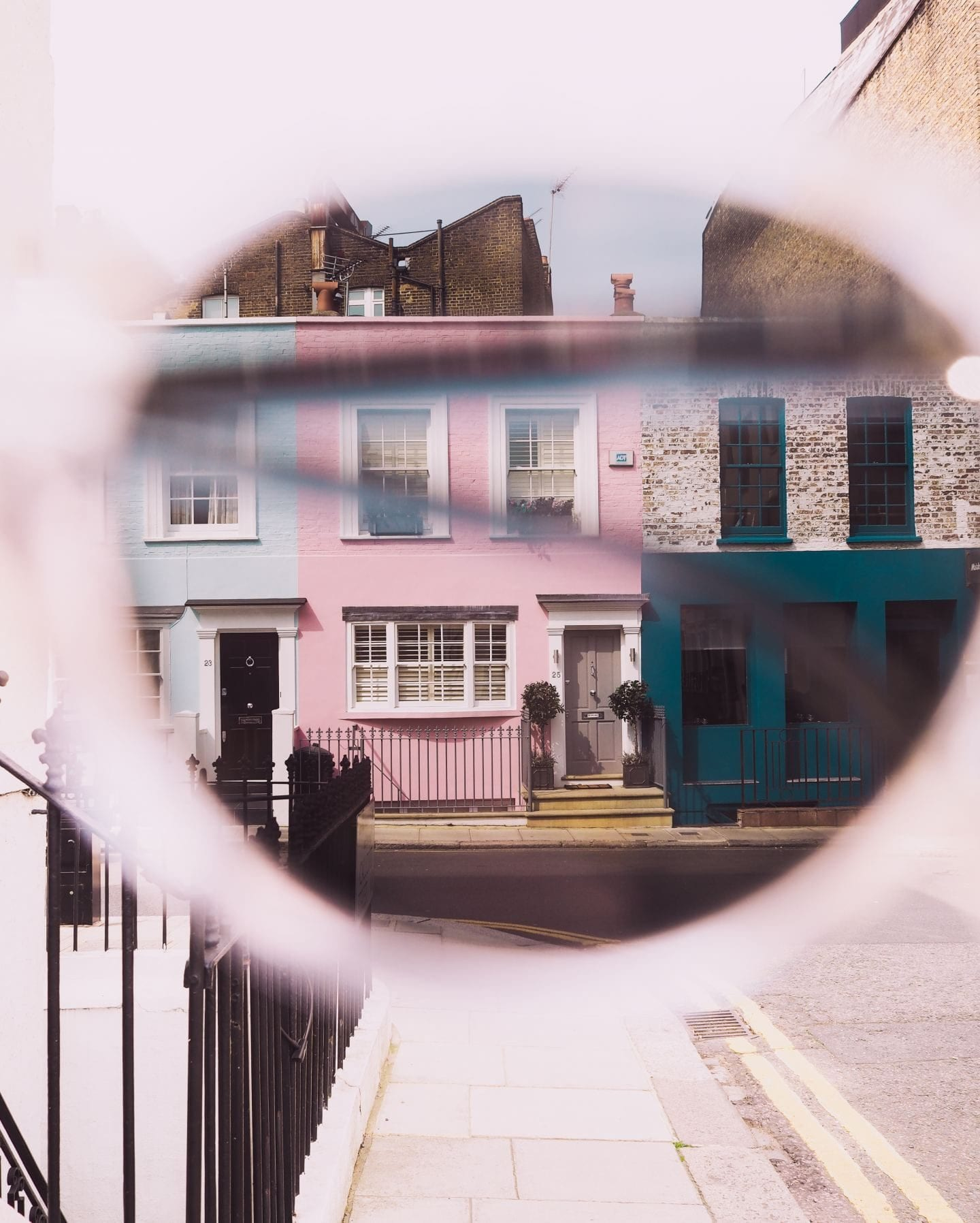 pink houses in notting hill