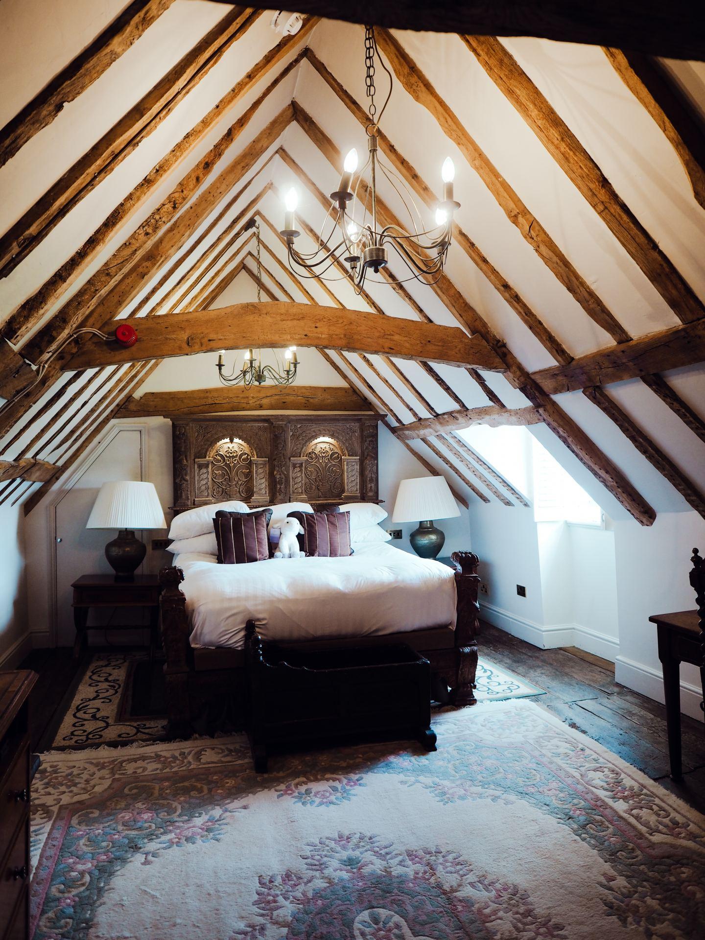 Chilston Park Hotel, Kent bedroom tudor beams