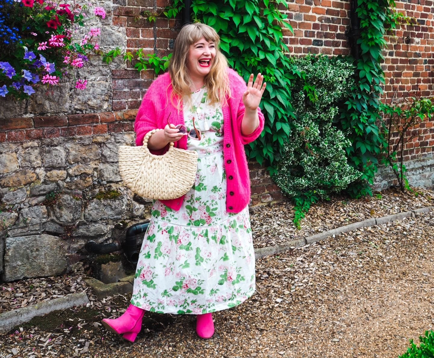 fashion for lunch blog uk curve blogger plus size style vintage Laura Ashley dress