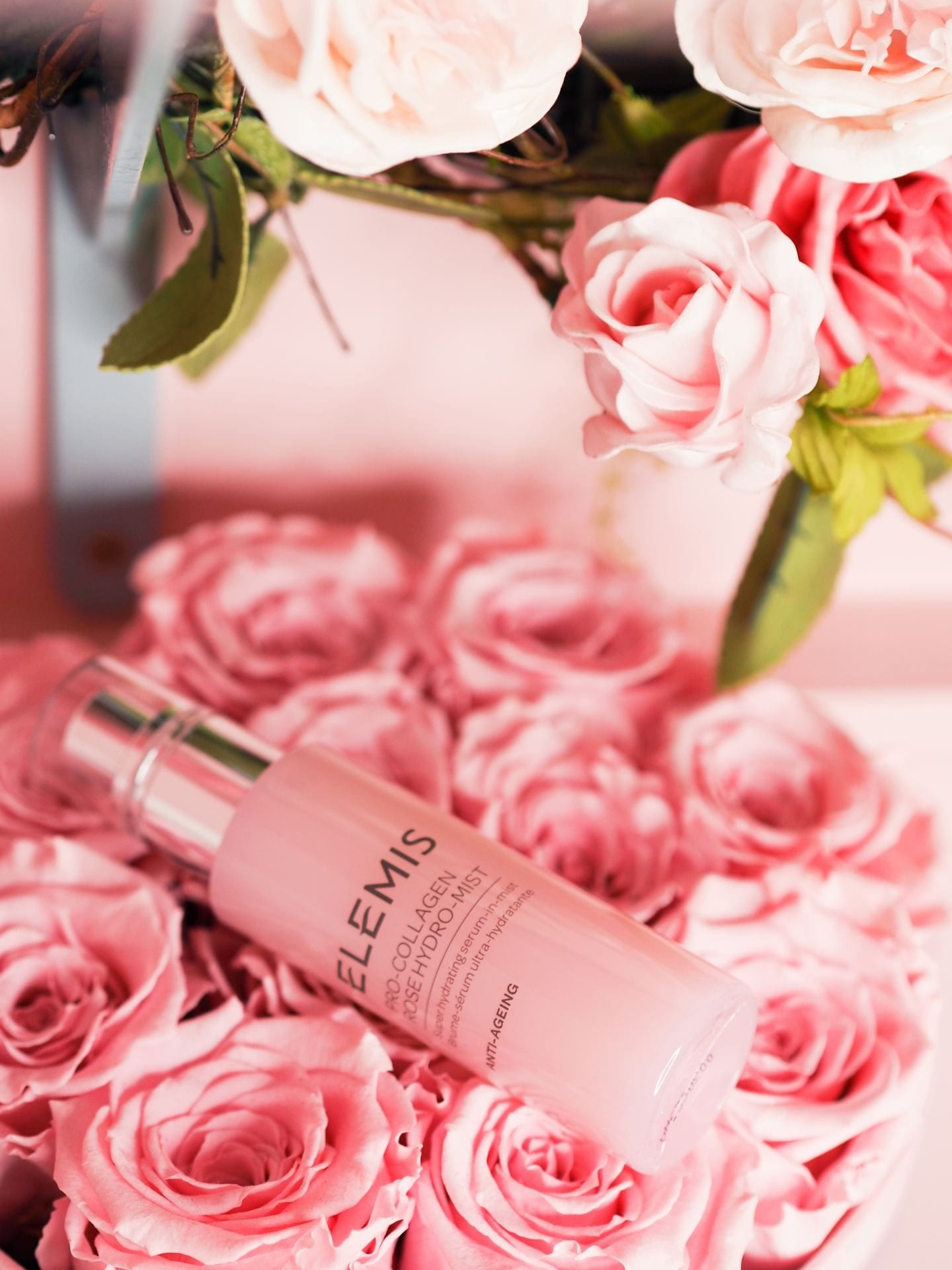 Katie Jane Hughes' Shares Her Top Tips For Creating Perfectly Glossy Skin rose face oil elemis rose facial mist