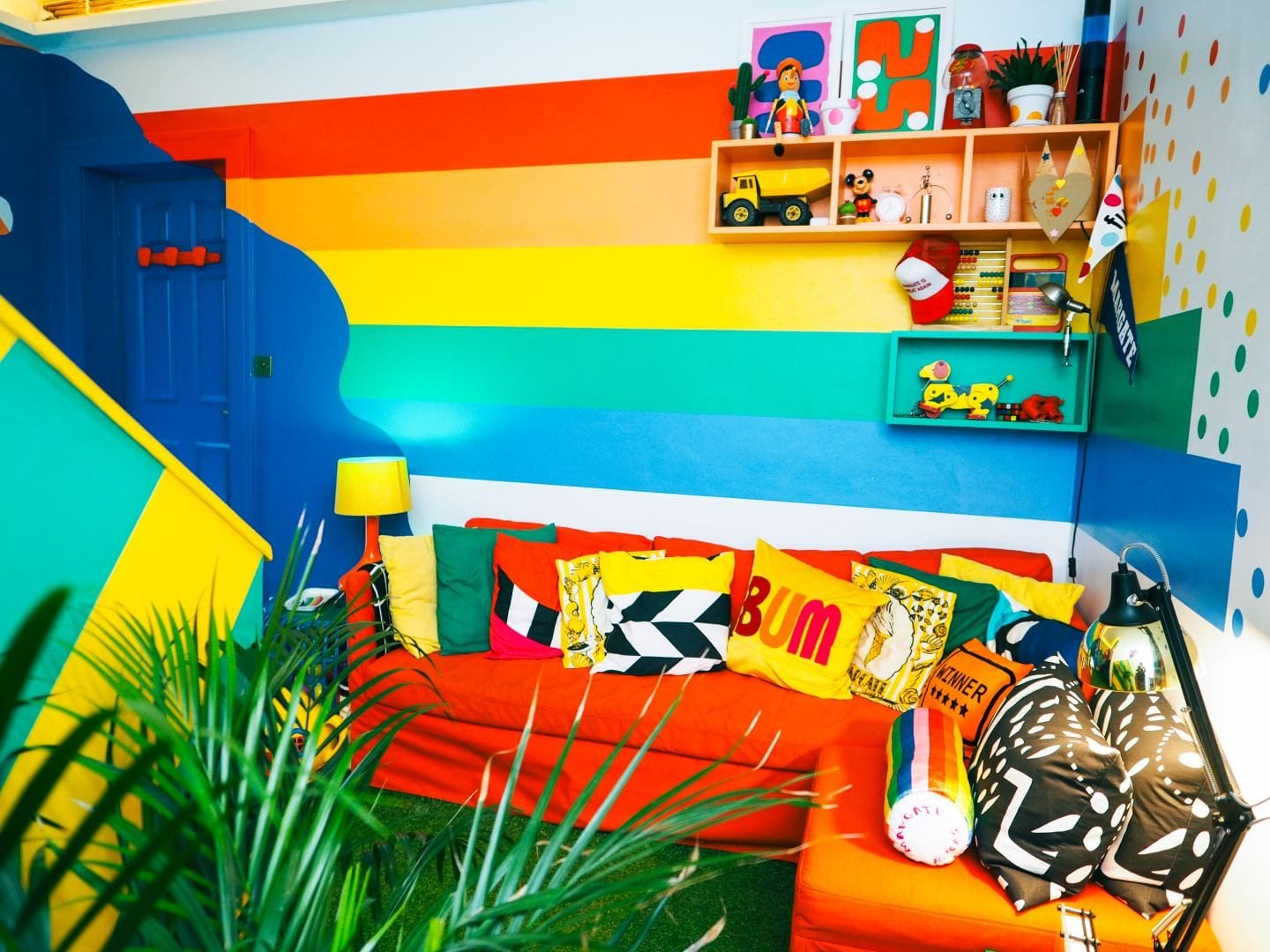 big bit margate hotel little bit rainbow living room
