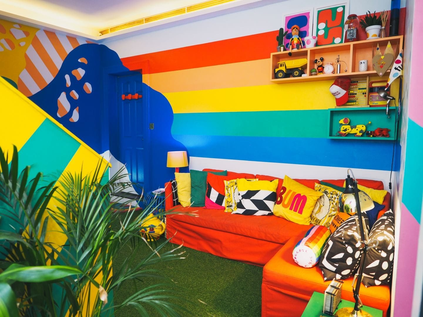 big bit margate hotel little bit rainbow living room lounge