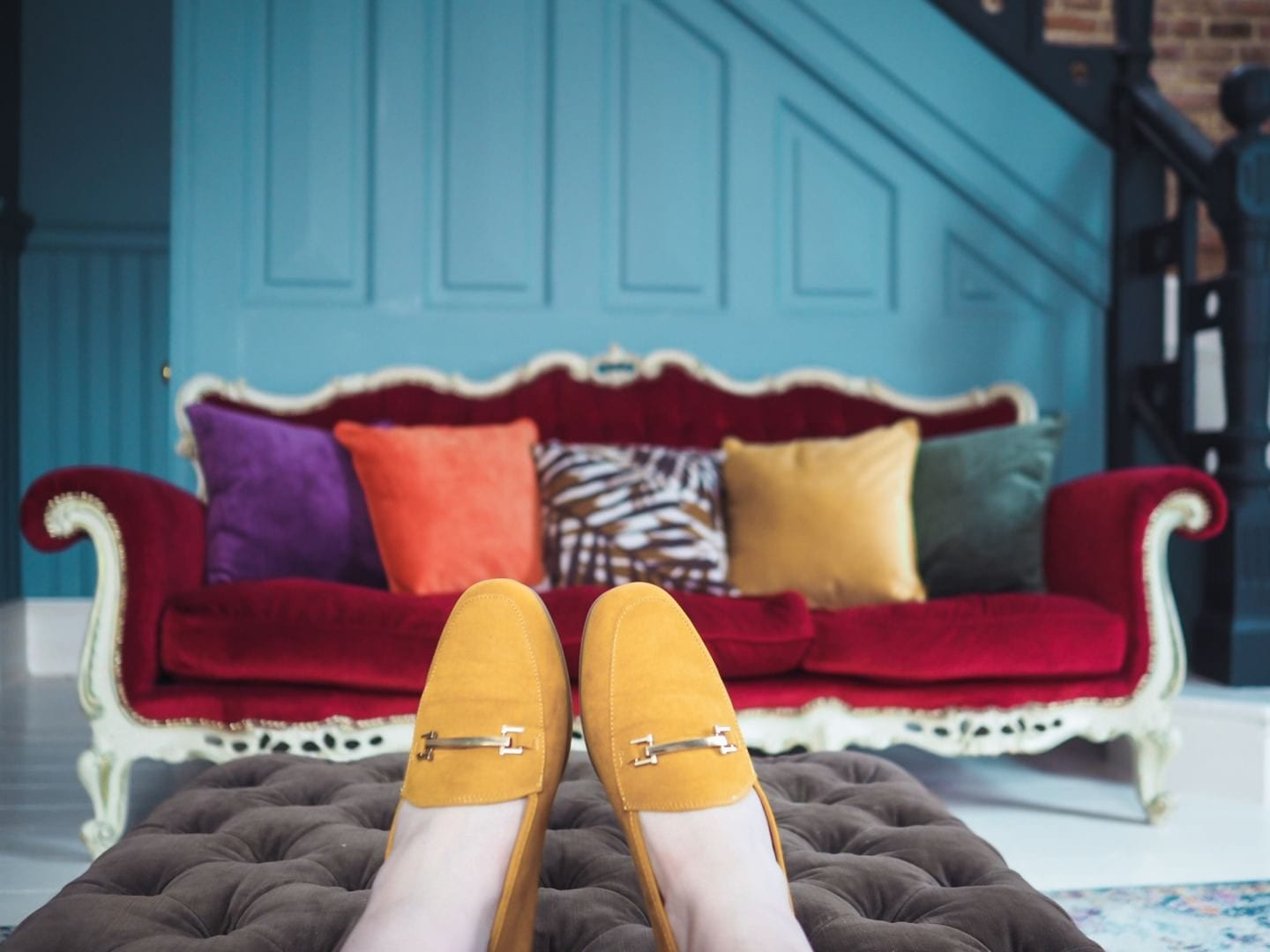 matalan yellow mustard loafers shoes flats