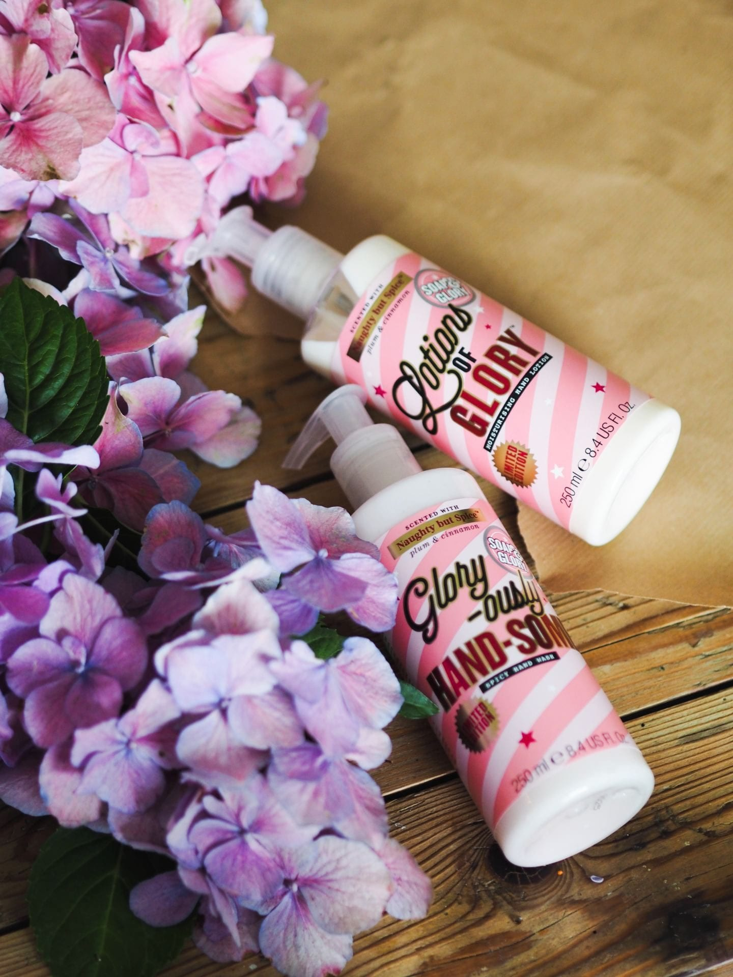 soap and glory naughty but spice hand wash hand lotion