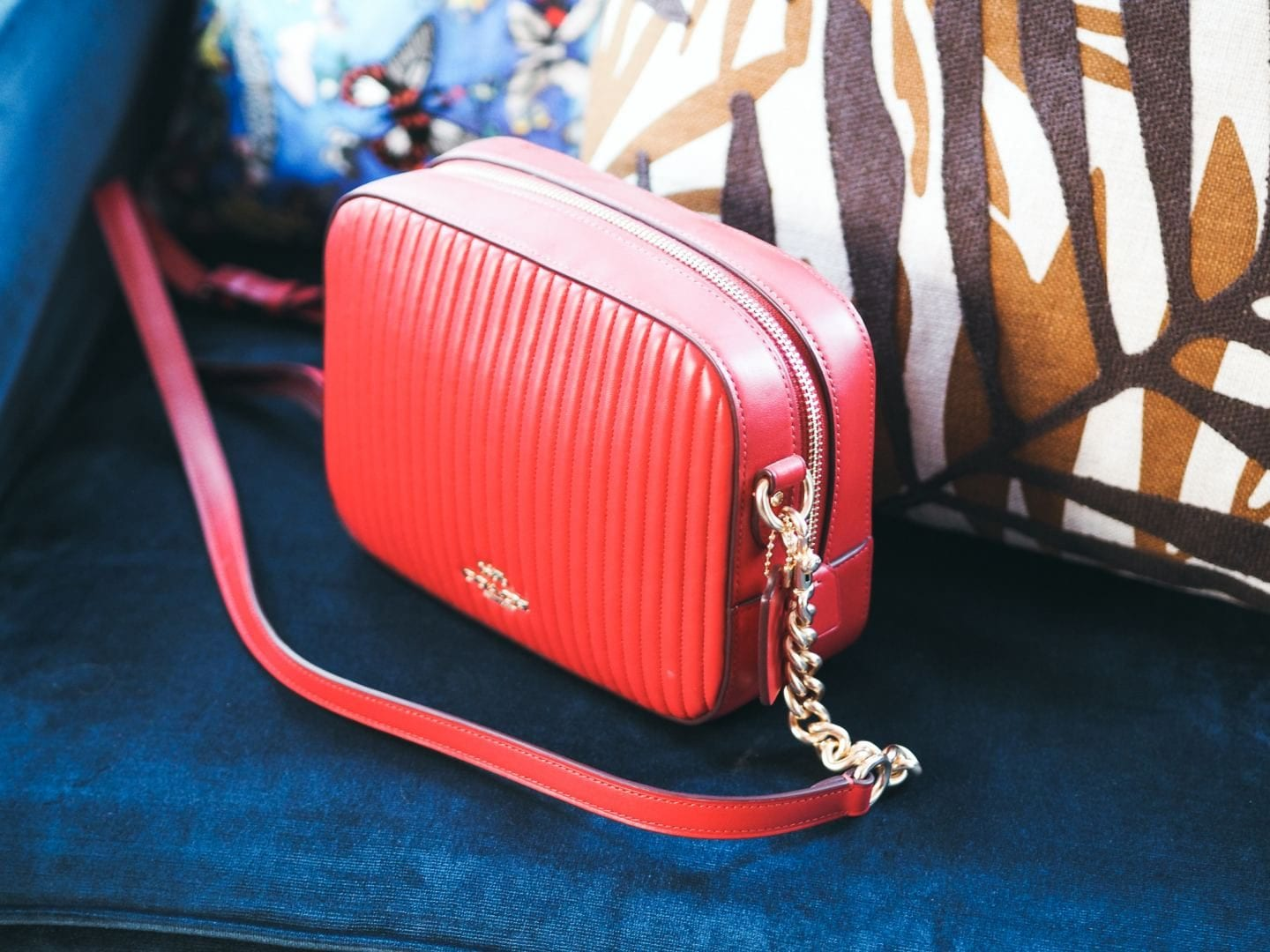 Coach Camera Bag handbag red leather quilted review