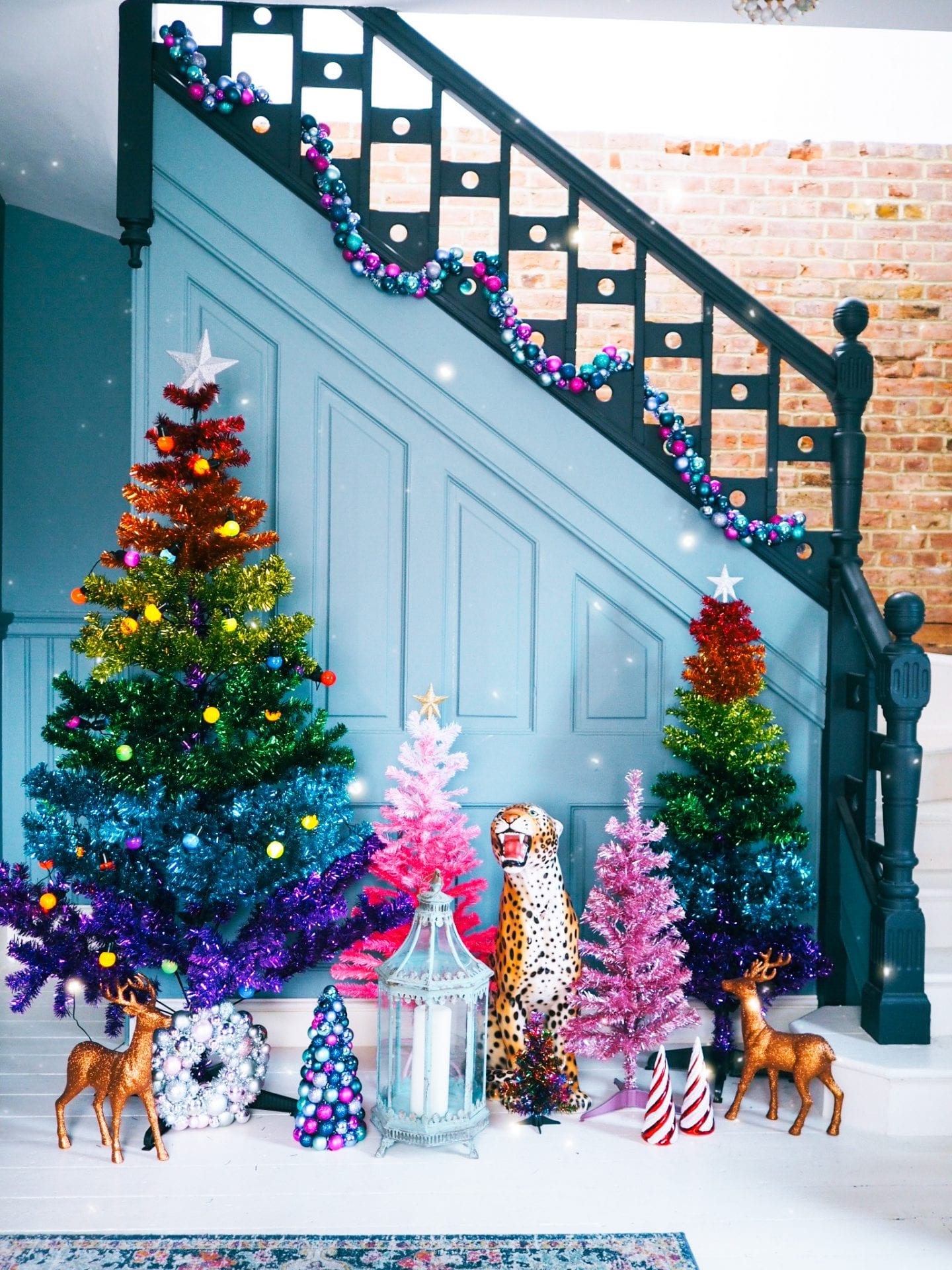 fashion-for-lunch-blog-home-christmas-house-colourful-colour-holiday-decorations-paperchase-rainbow-tree