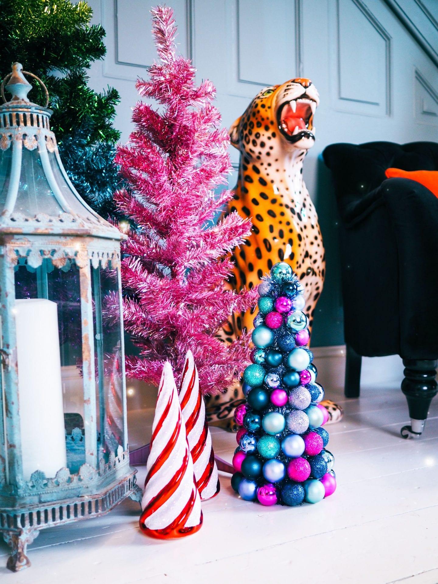 matalan christmas 2019 red and white christmas tree cones