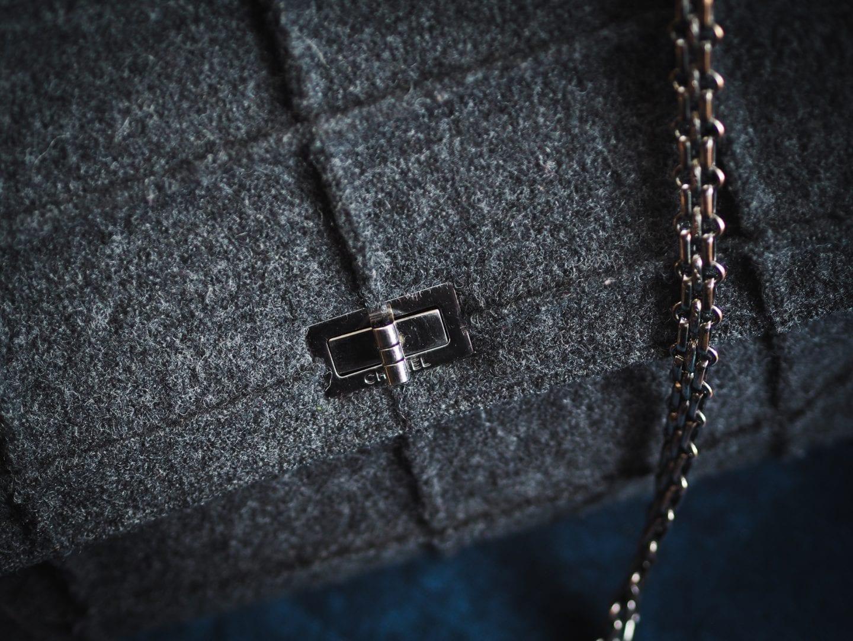 chanel reissue handbag 1999 vintage grey millenium handbag bag