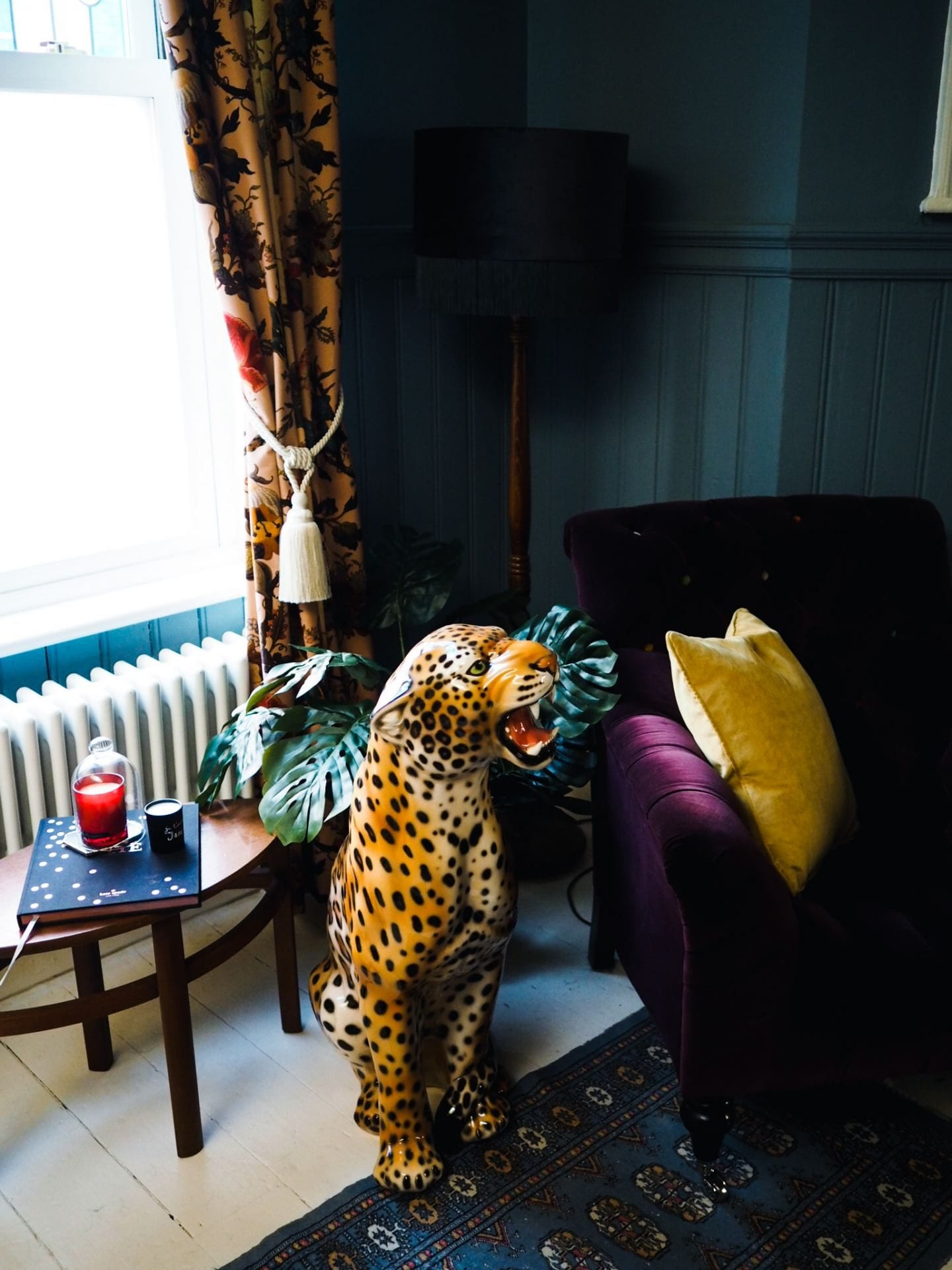 fashion for lunch home leopard figurine statue tassels curtains modern luxury margate house home
