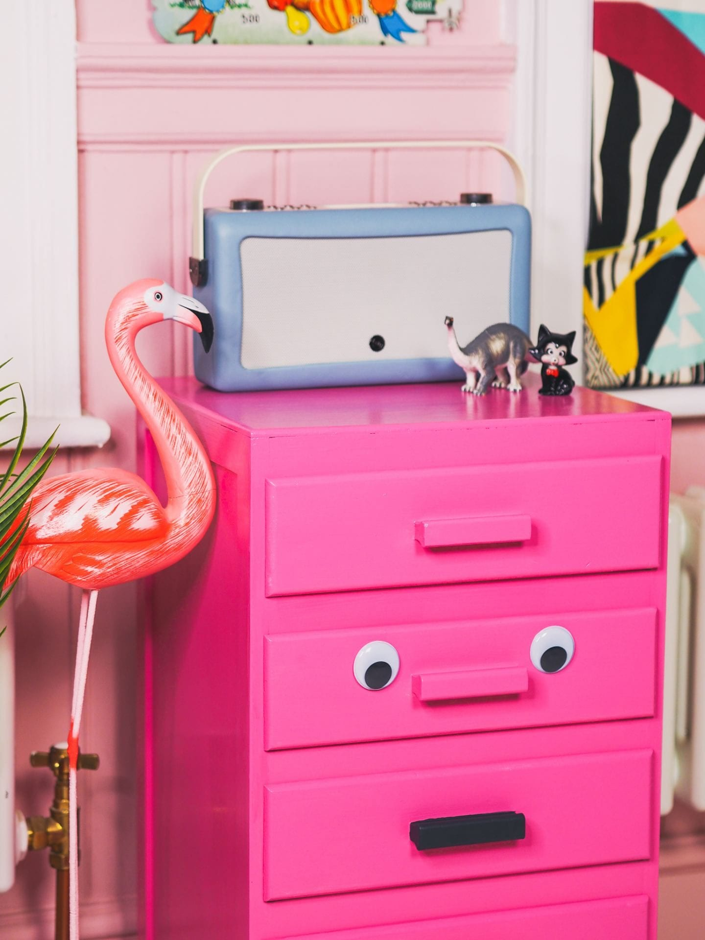 pink drawers upcycling project pink door london face furniture