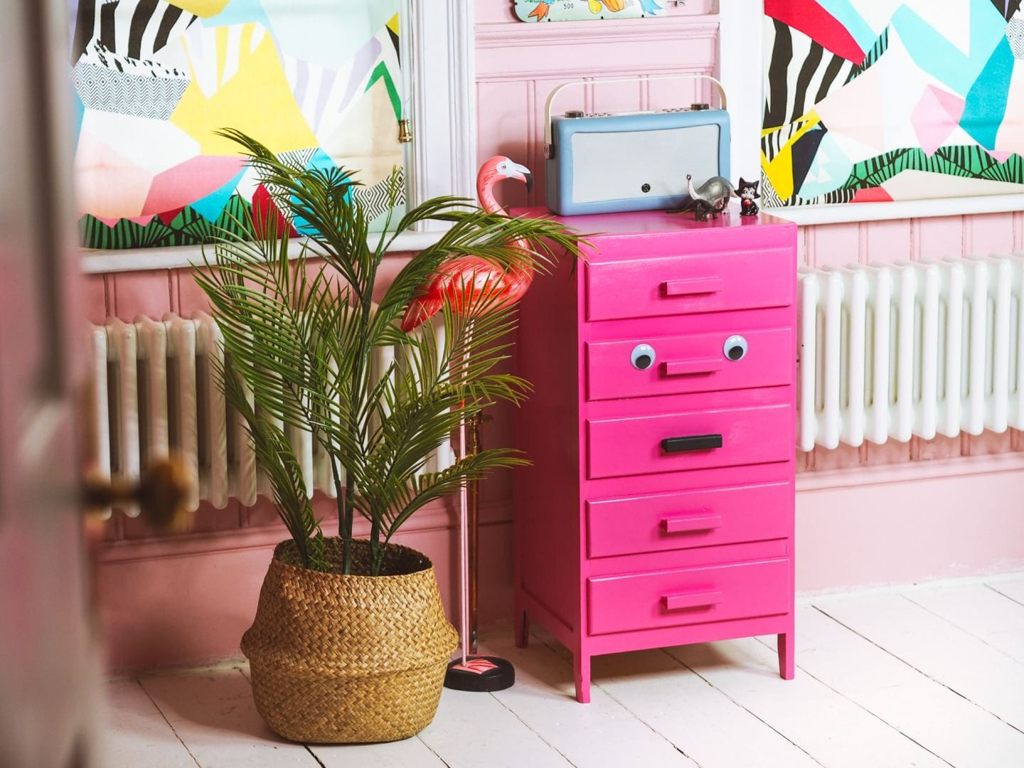 I Upcycled My Drawers… Inspired By An Insta-famous Pink Door With Eyes!