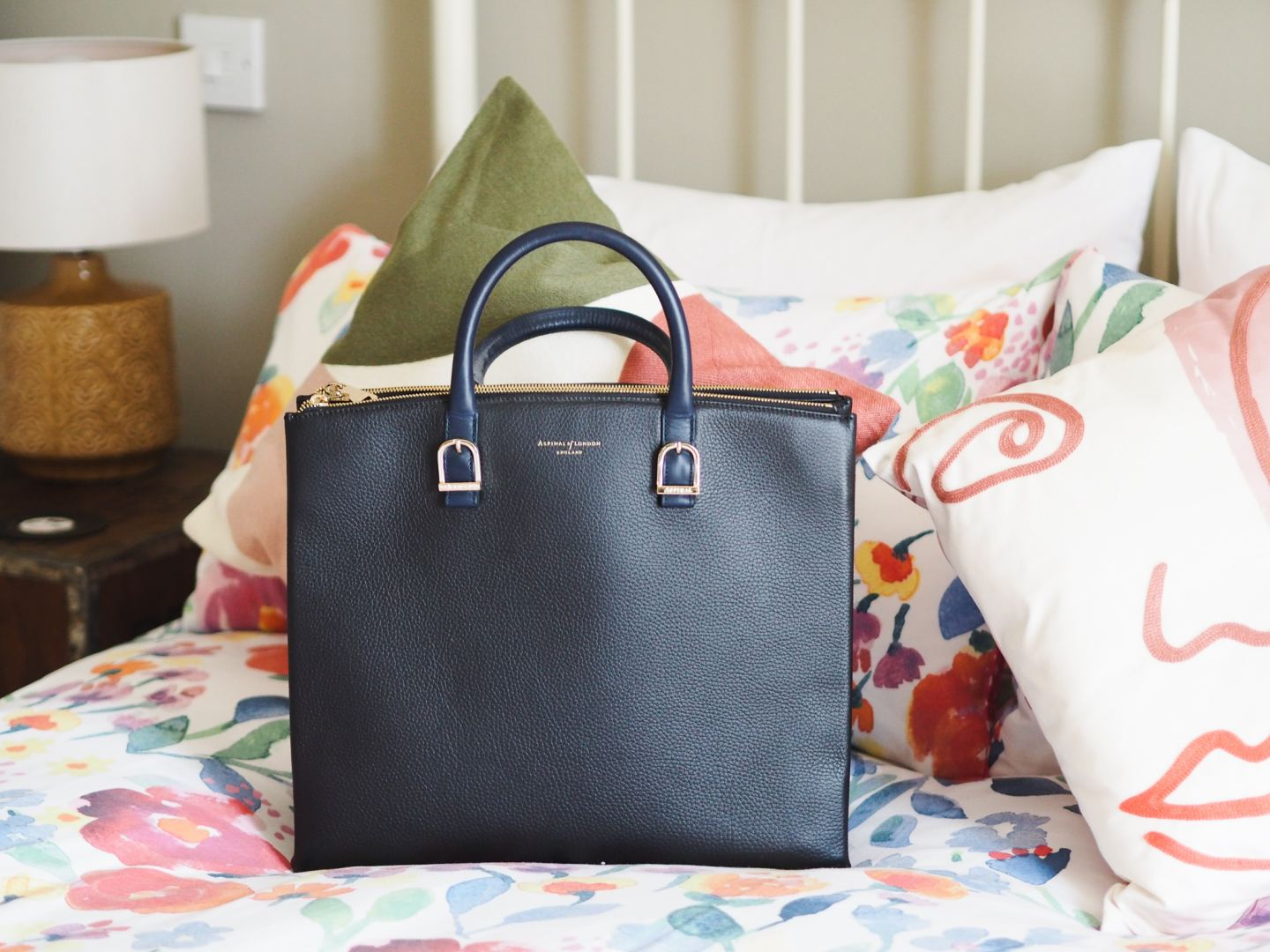 Aspinal Of London Madison Tote Bag navy blue handbag review