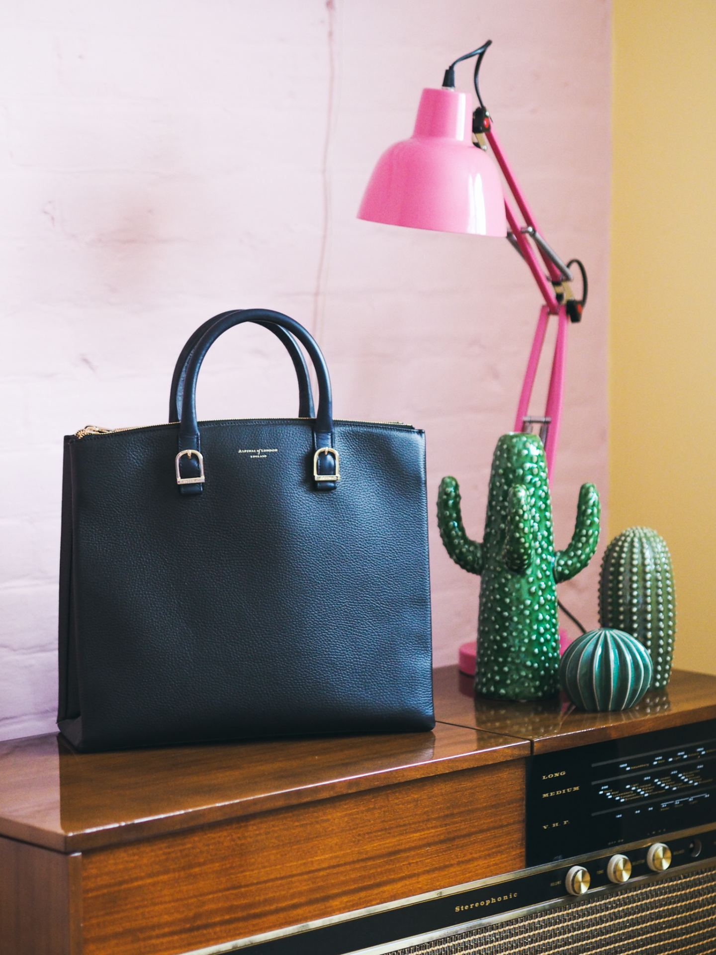 Aspinal Of London Madison Tote Bag navy blue review