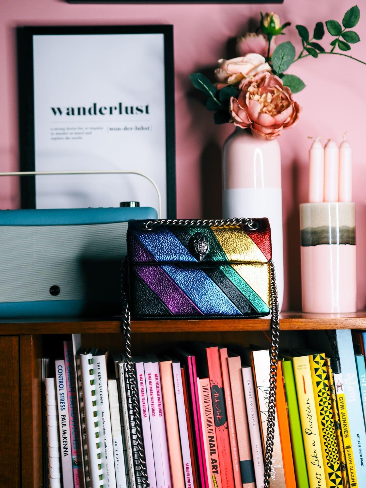 Kurt Geiger Mini Kensington Bag Review rainbow review shoudler bag