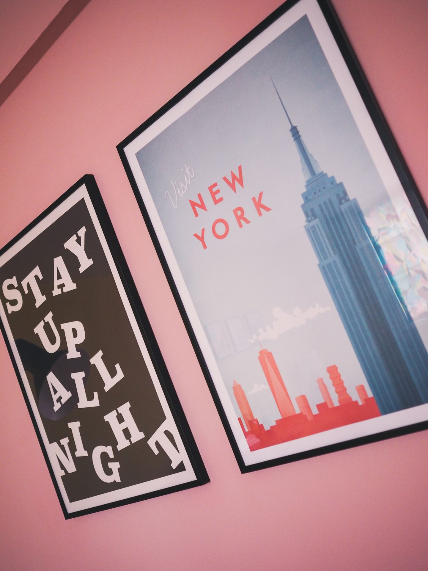 desenio prints stay up all night new york travel print colourful haul black white travel posted