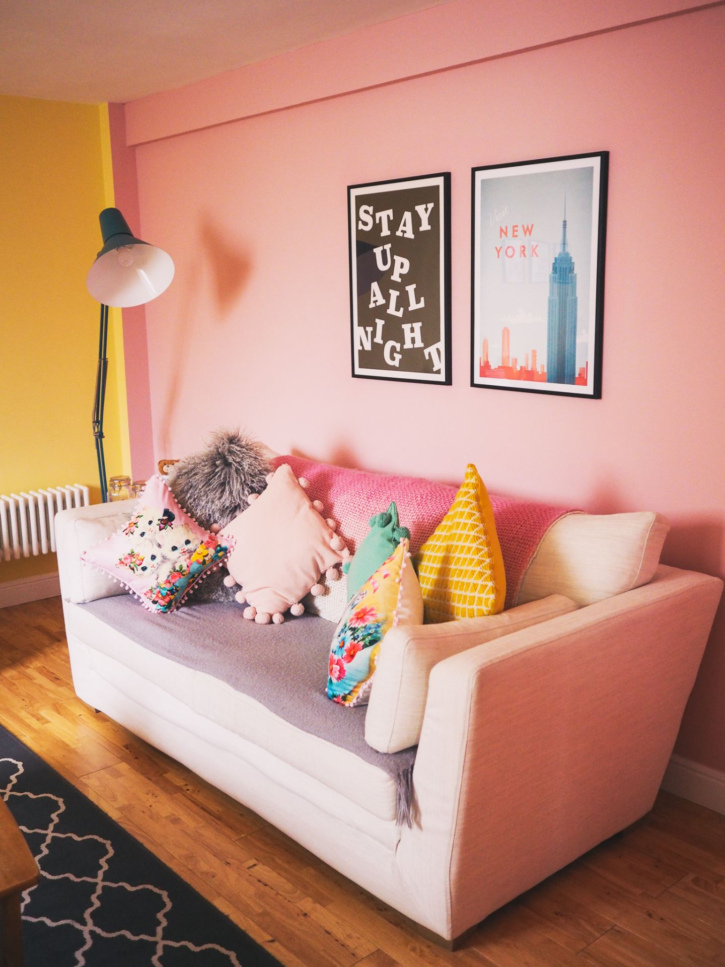 desenio prints stay up all night new york travel print colourful haul margate colourful home