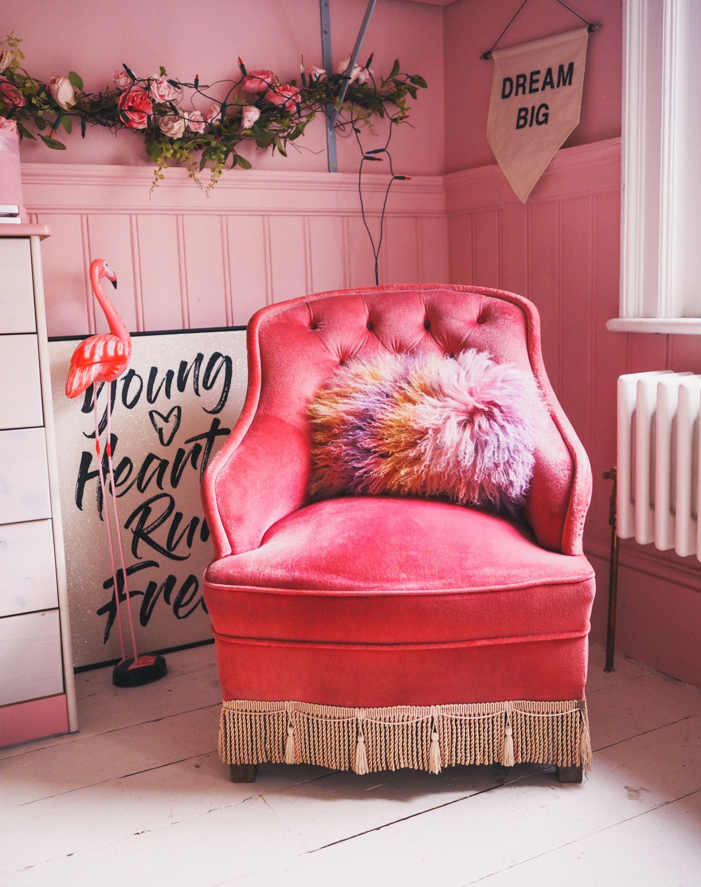 pink office pink home margate kent matalan rug valspar pink walls victorian home rennovation .jpg pink chair