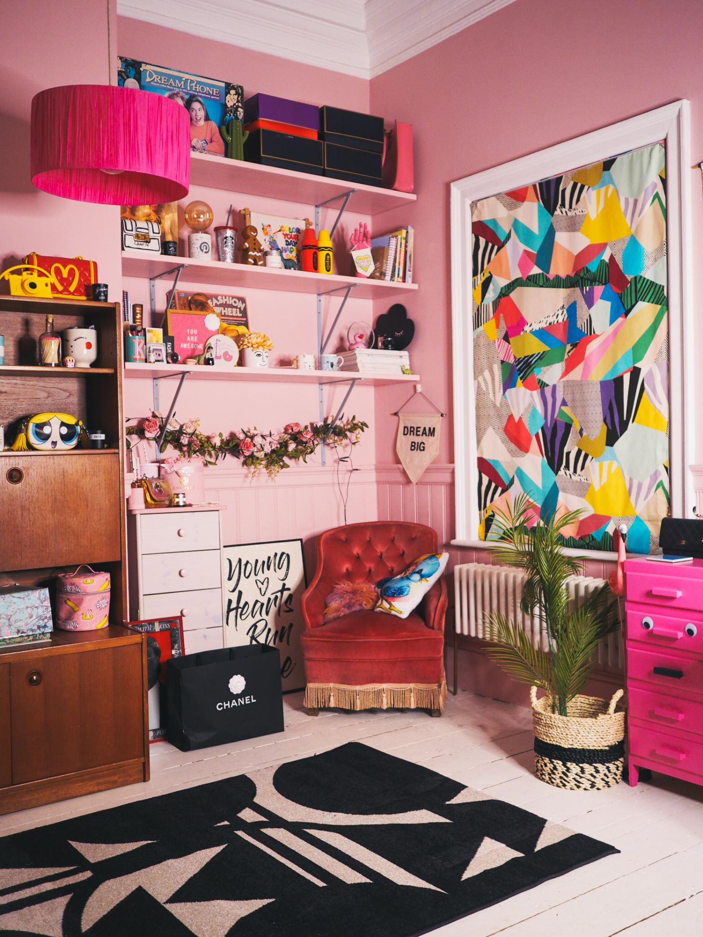 pink office pink home margate kent matalan rug valspar pink walls victorian home rennovation .jpg rug