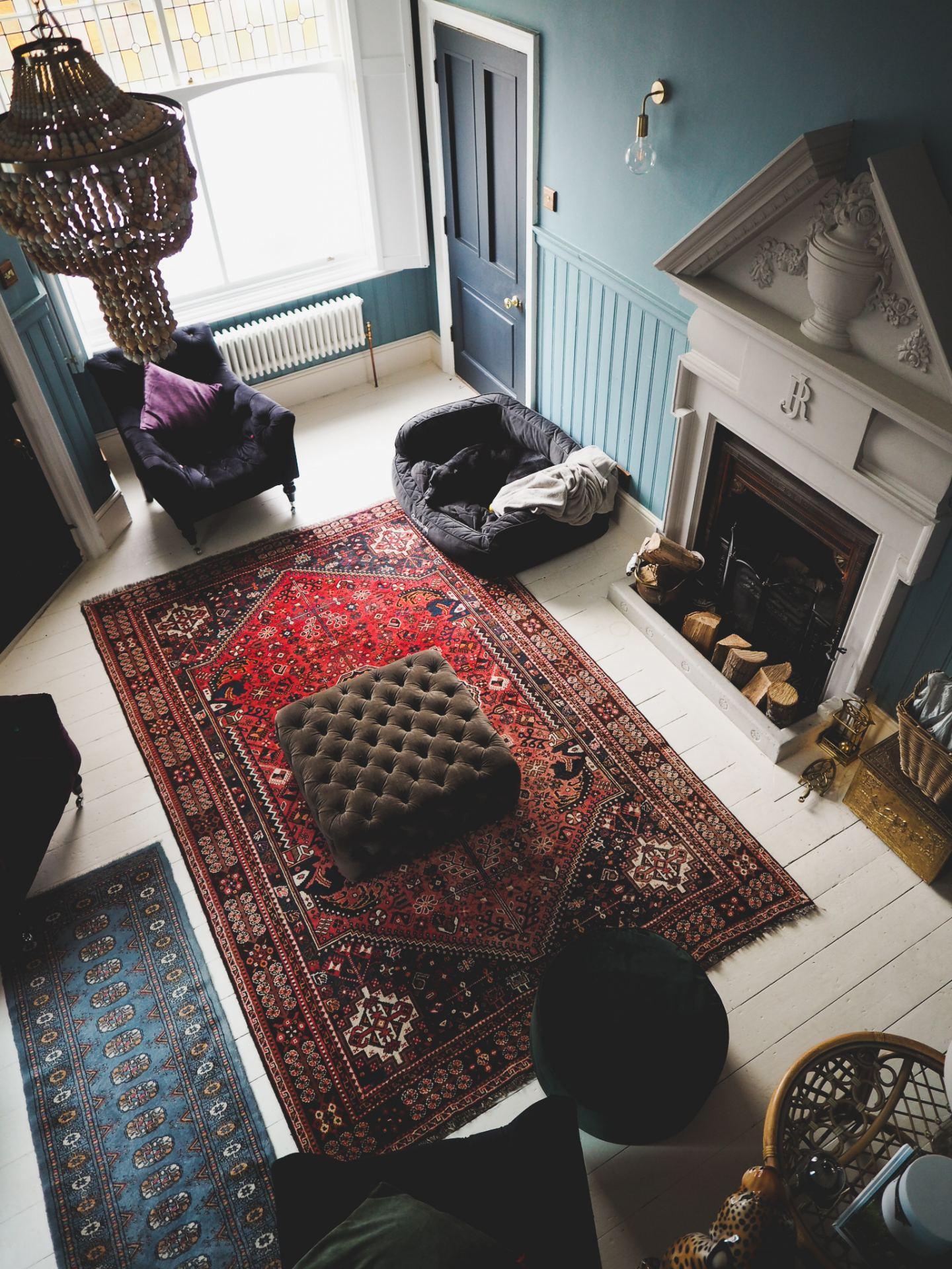 vintage rug from ebay