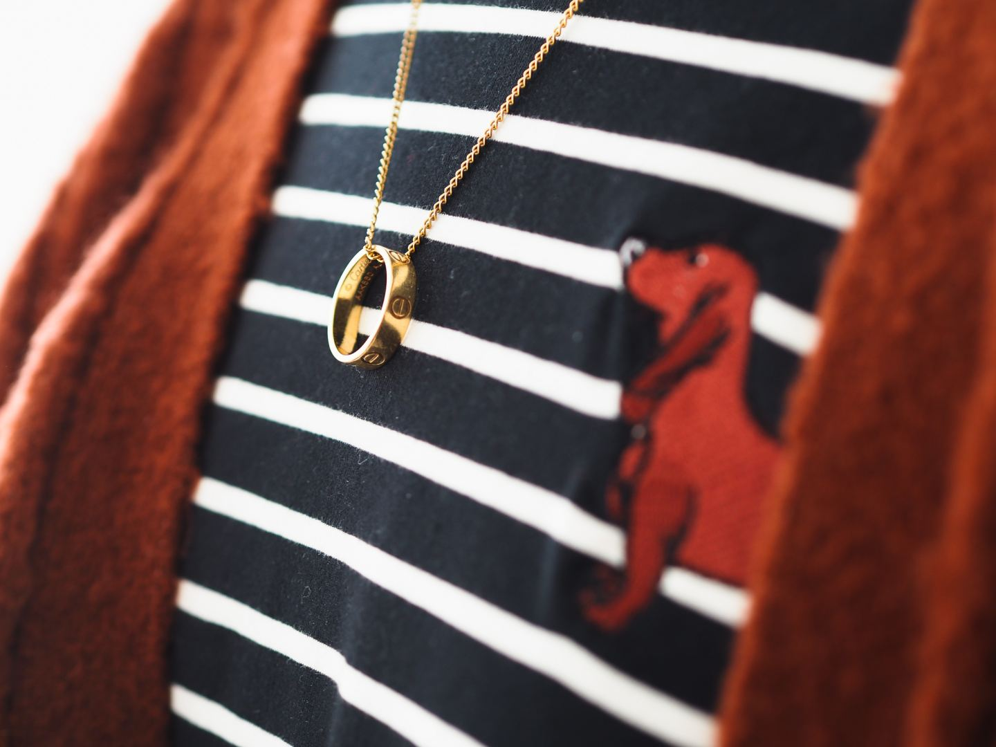 Four Ways To Wear The Cartier Love Ring gold necklace review