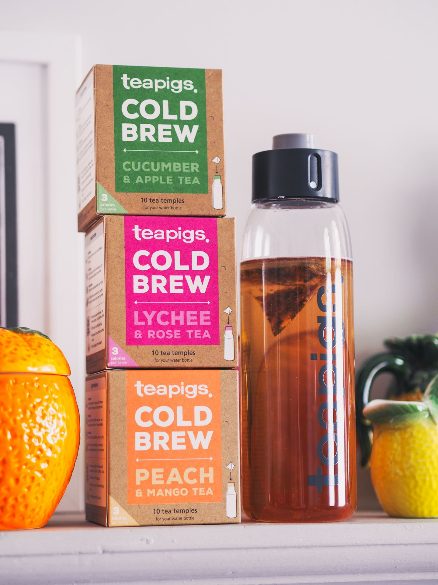 Teapigs Cold Brew Flavours peach and mango review cold brew