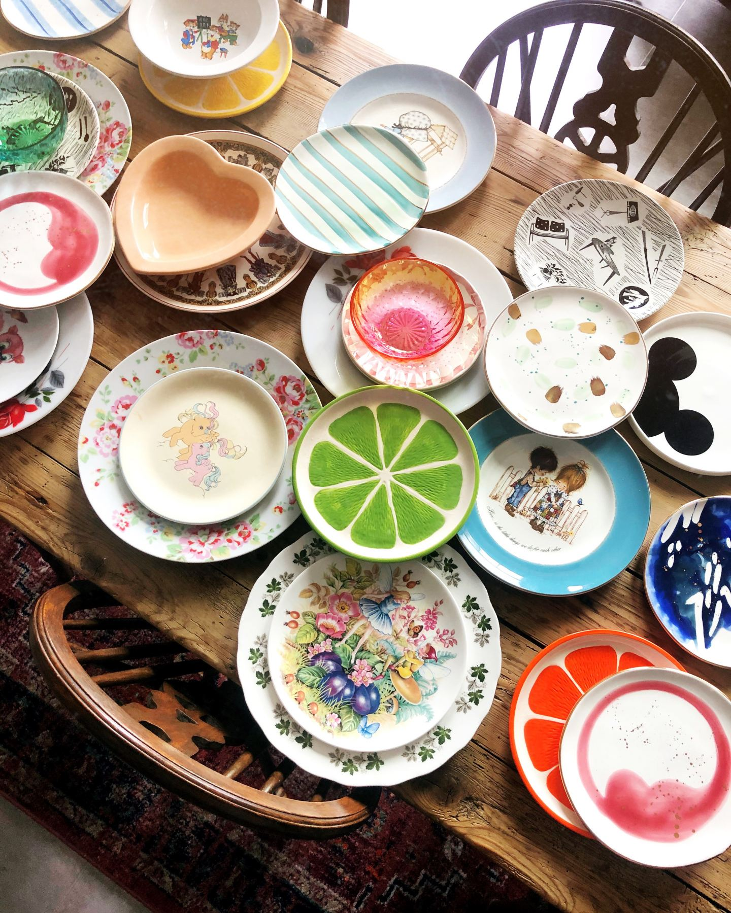 vintage crockery collection anthropologie my little pony