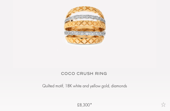 chanel coco crush ring price