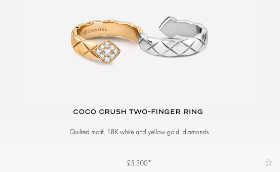 chanel chanel Coco Crush Two-Finger Ring