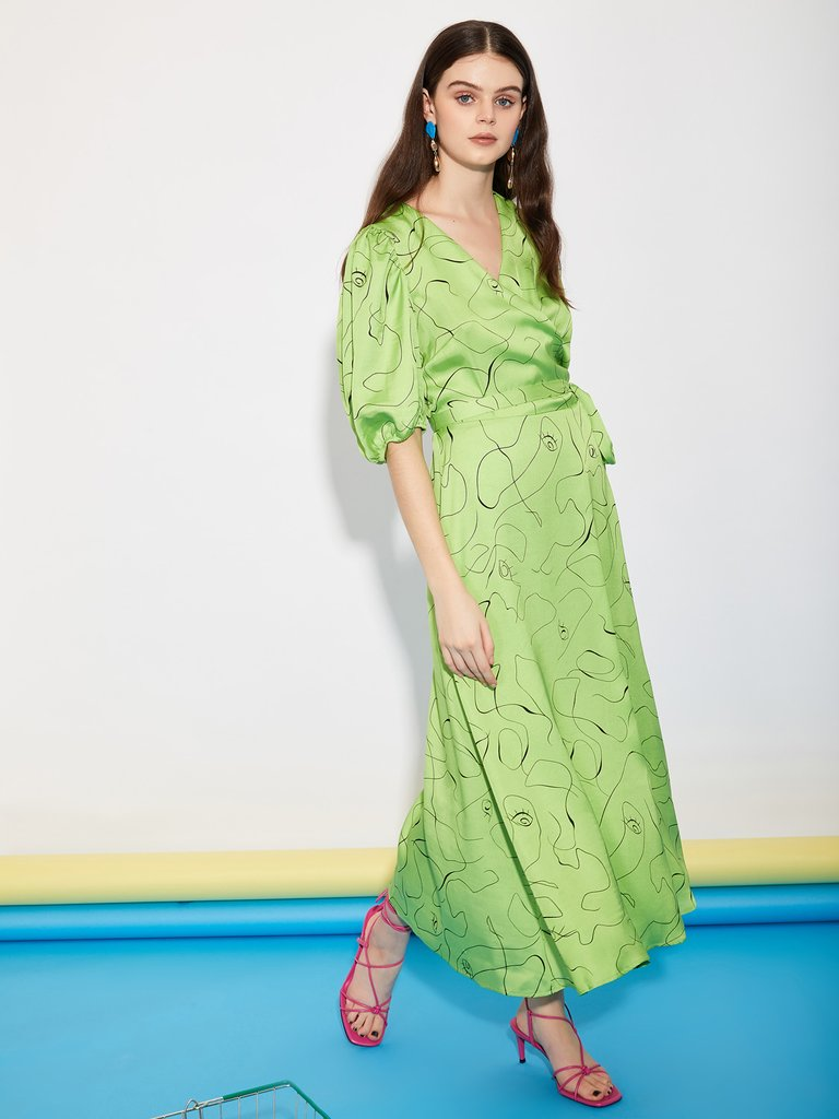 ghospell dress green