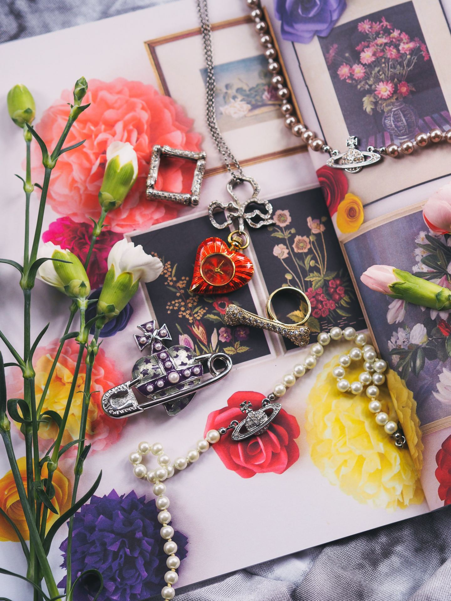 vivienne westwood watch necklace heart sacred pendant necklace